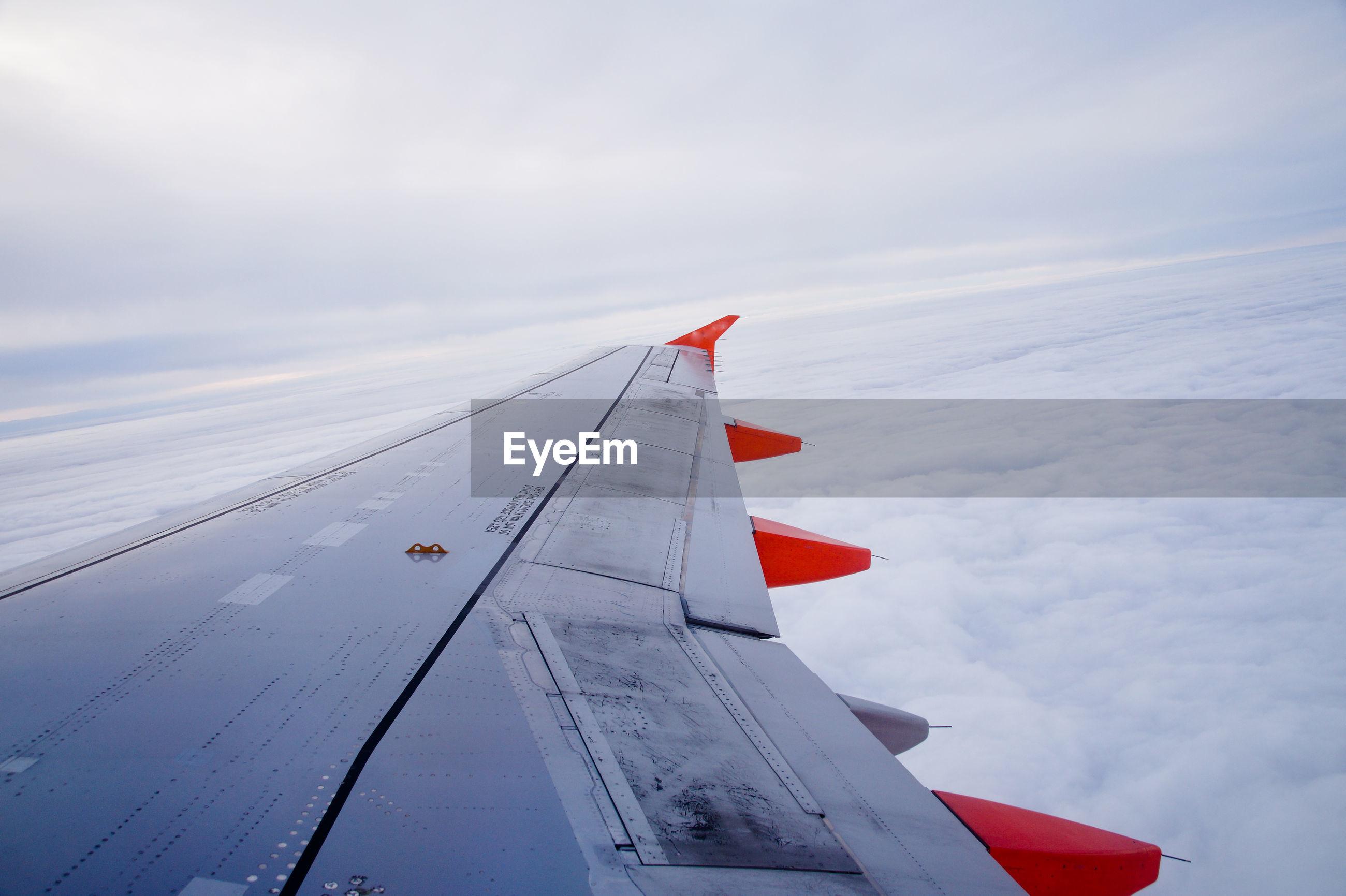 Close-up of aircraft wing
