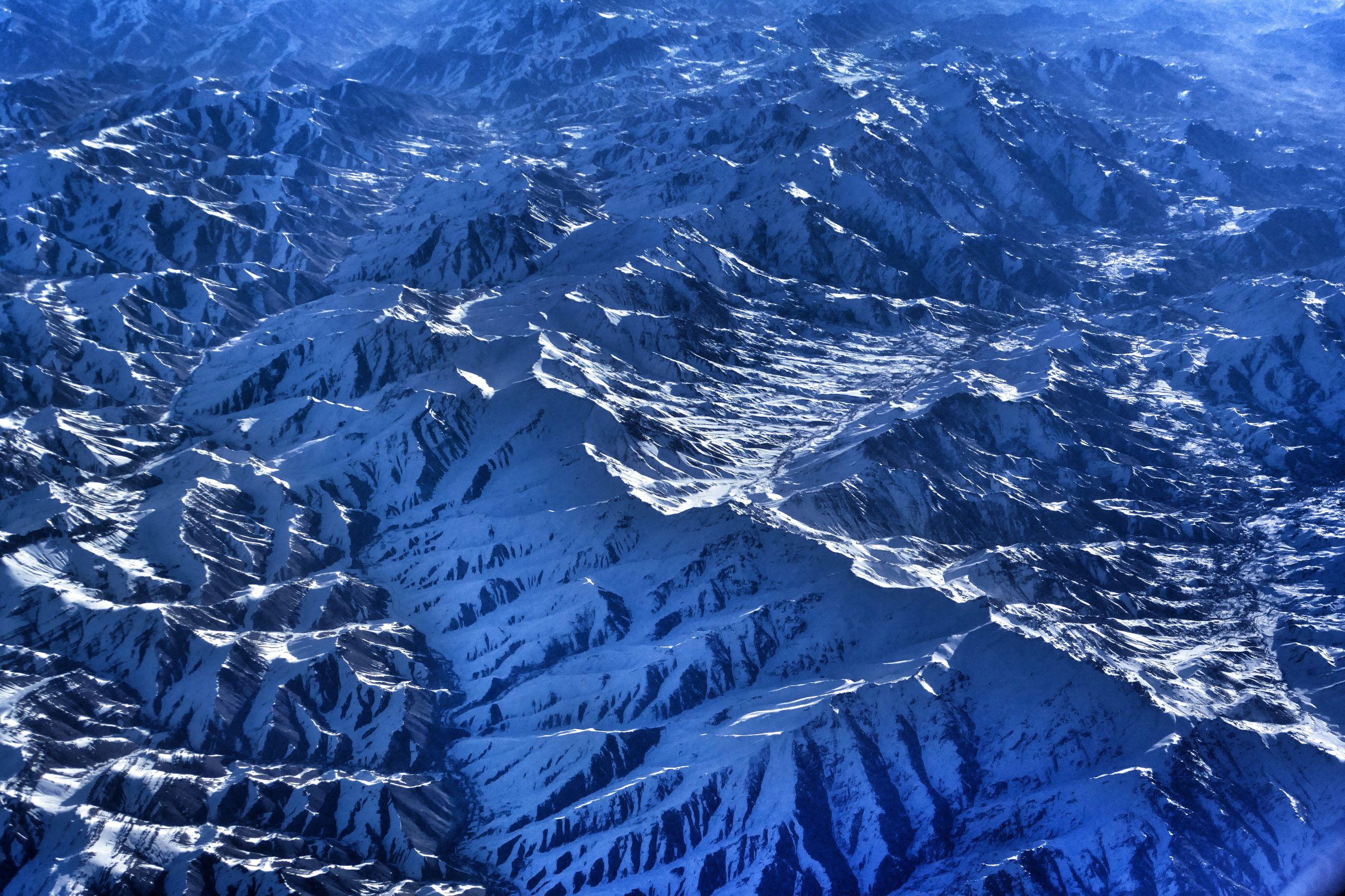 Full frame shot of snow covered mountain