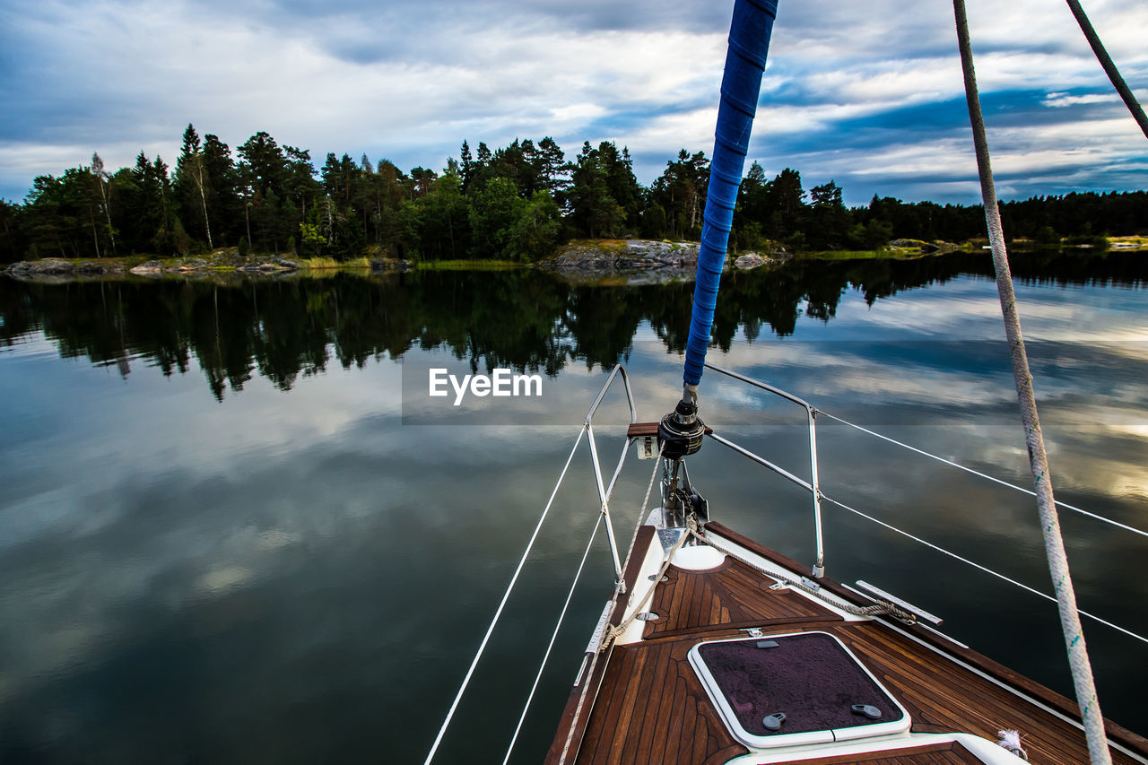 PERSONAL PERSPECTIVE OF A SAILING BOAT IN SWEDEN
