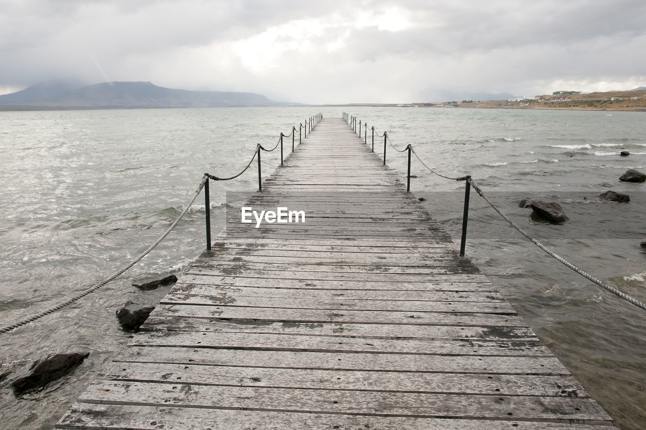 the way forward, wood - material, tranquil scene, pier, tranquility, scenics, sea, sky, nature, beauty in nature, jetty, outdoors, water, day, cloud - sky, no people, wood paneling