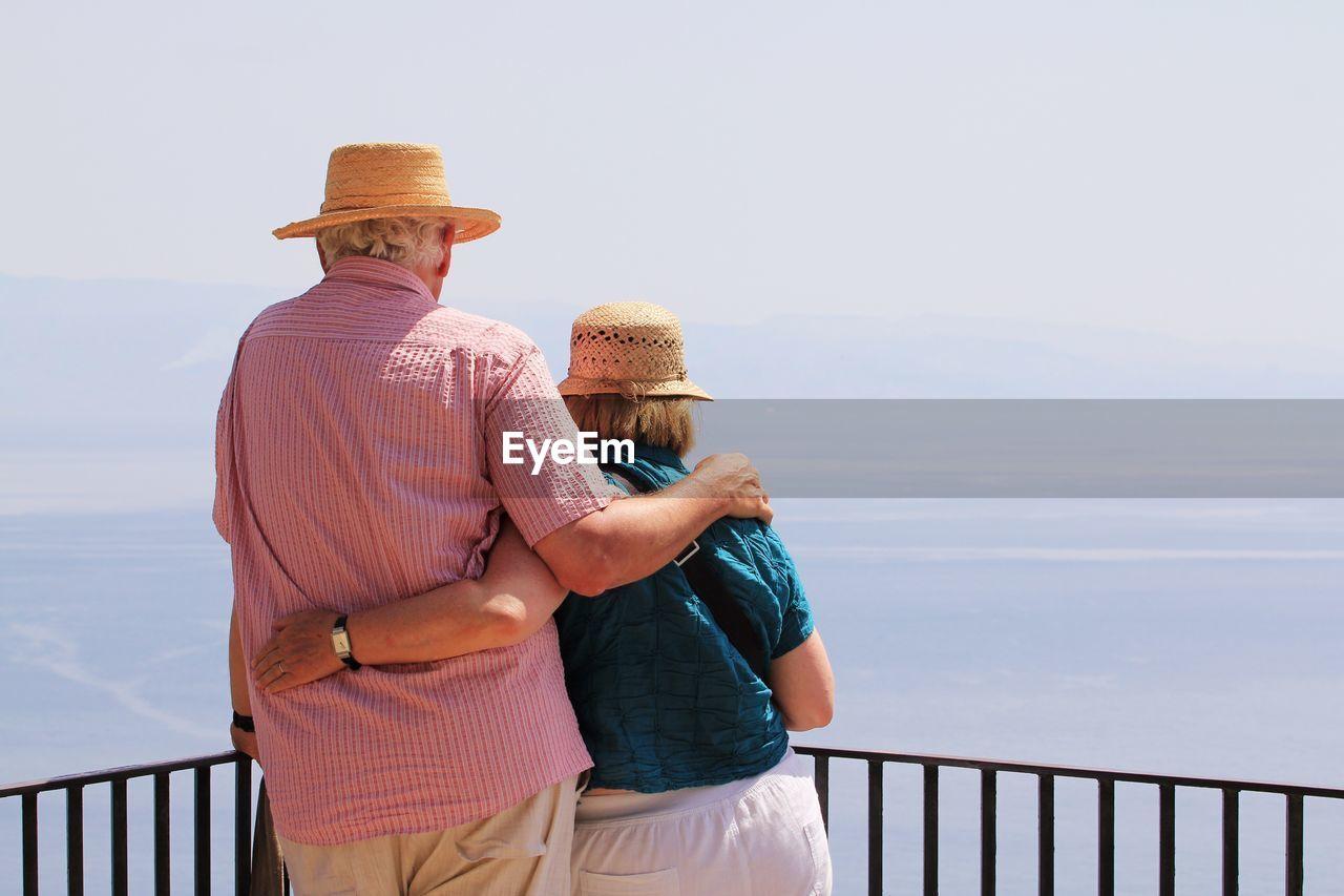 Senior Couple By Railing