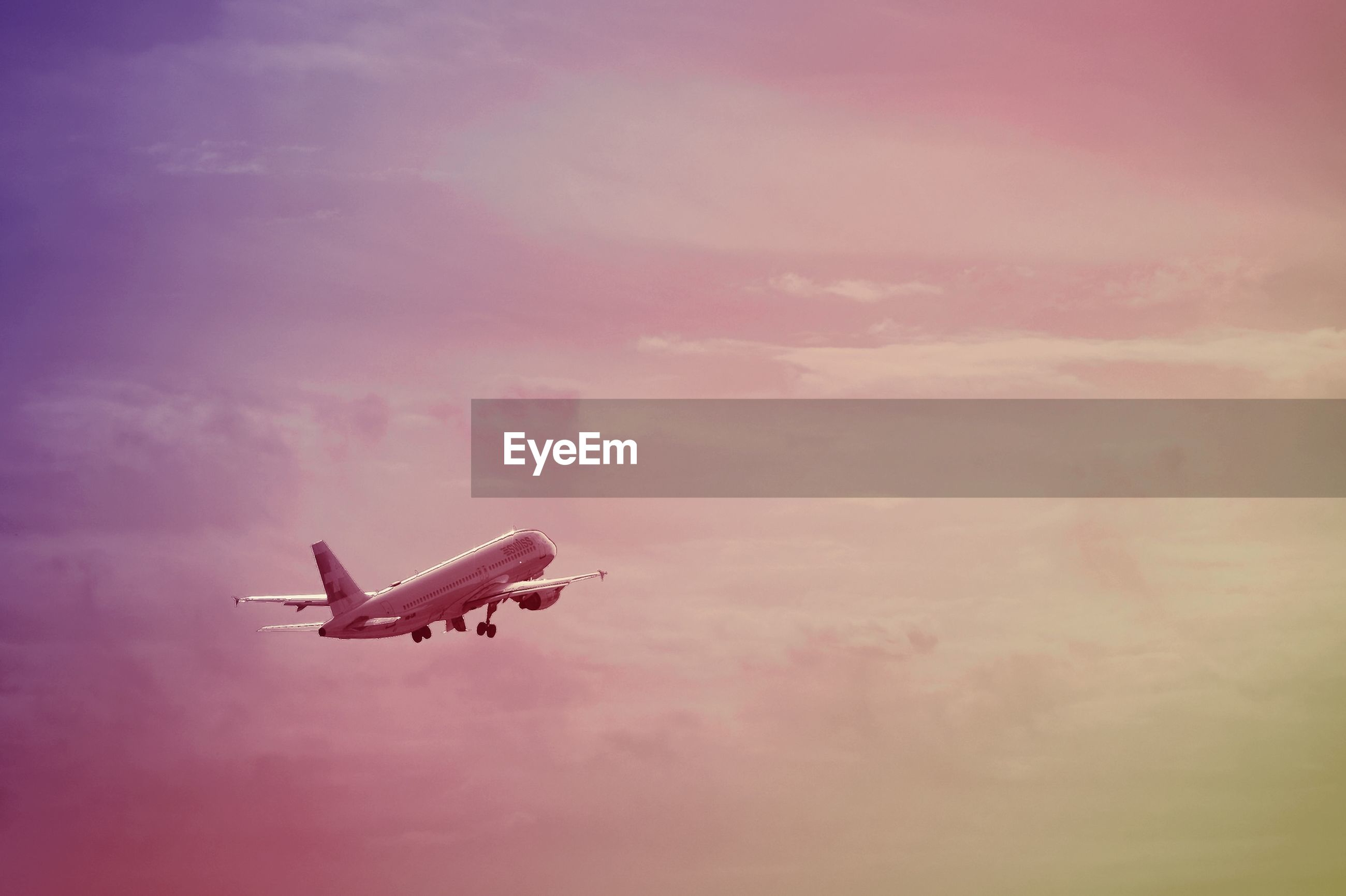 sky, mode of transport, transportation, cloud - sky, airplane, air vehicle, cloudy, sunset, low angle view, outdoors, cloud, travel, weather, no people, nature, dusk, nautical vessel, day, beauty in nature, on the move