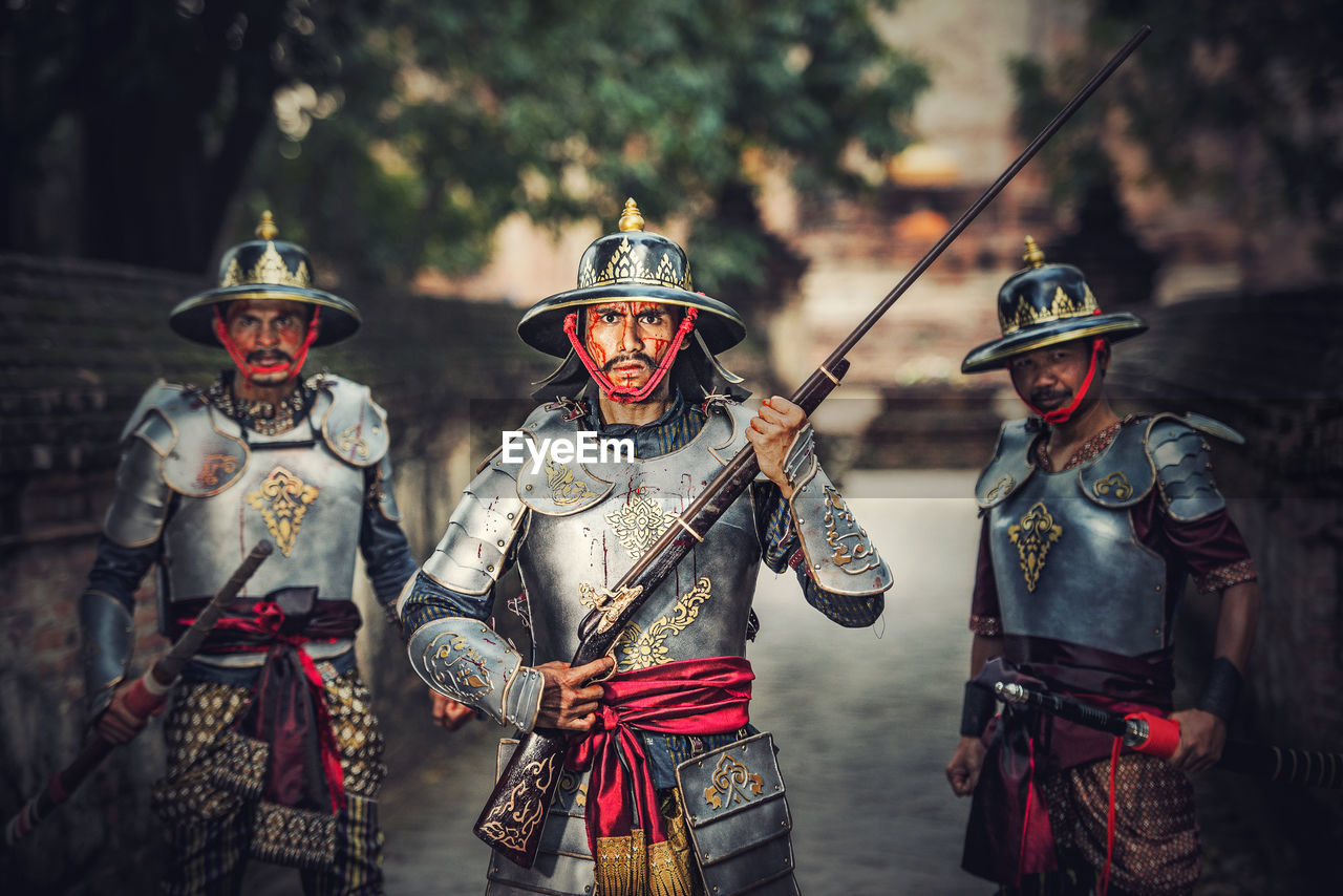 Portrait Of Warriors Wearing Uniform