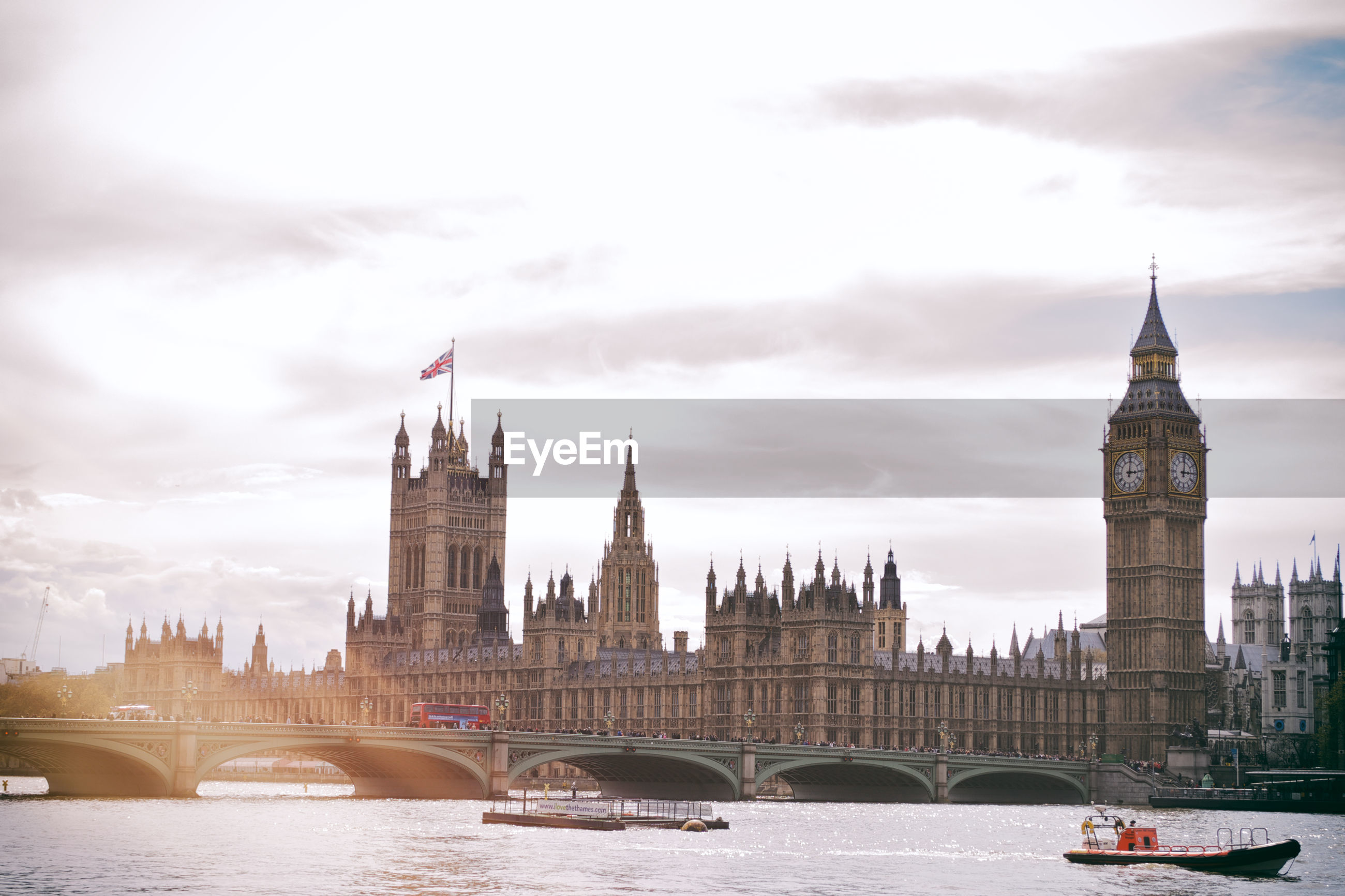 View of house of parliament and big ben