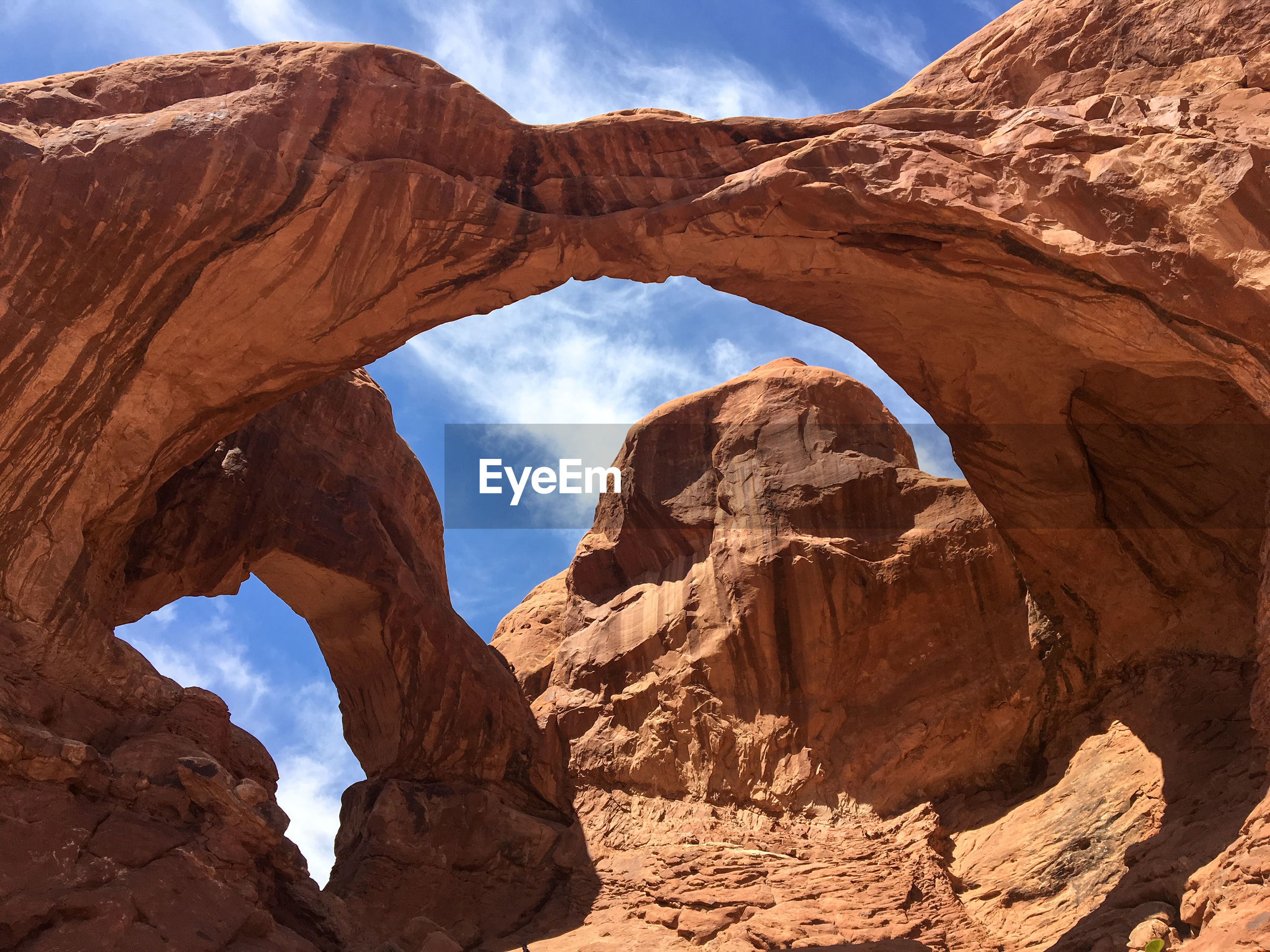 Scenic view of rock formations. arches national park