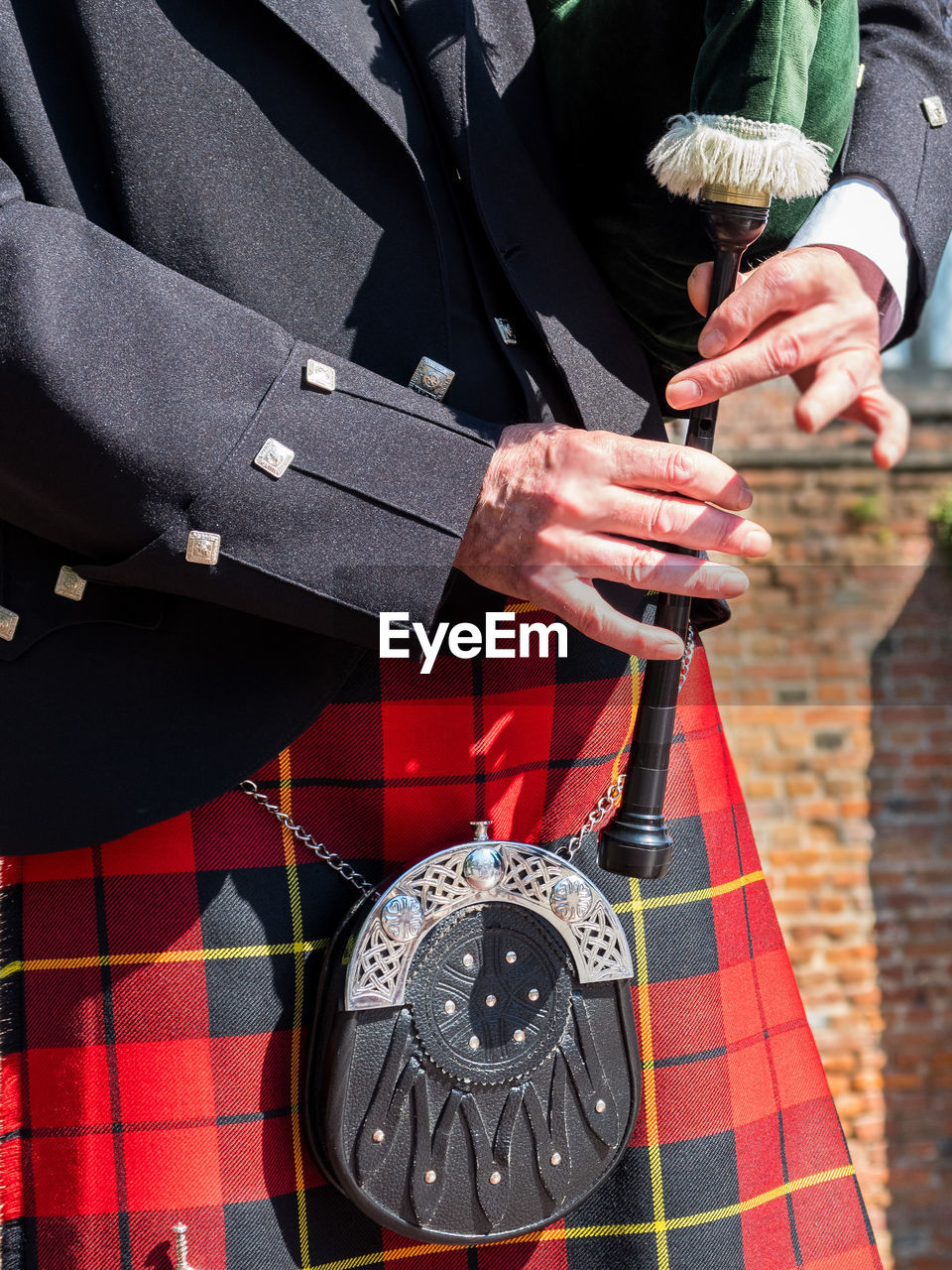 Midsection Of Bagpipe