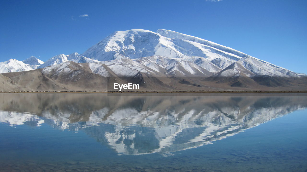 Scenic View Of Lake With Mountains In Background