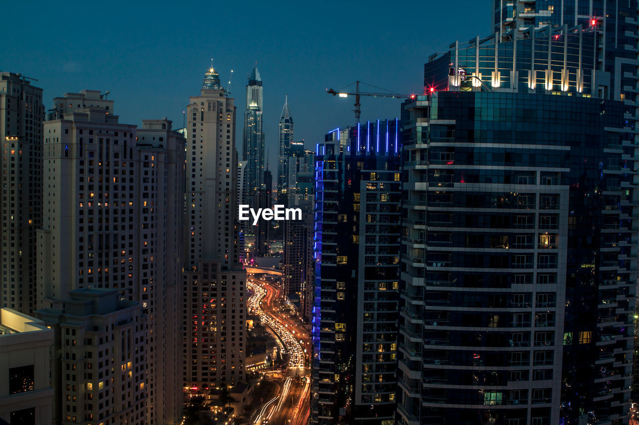building exterior, architecture, built structure, city, building, office building exterior, illuminated, modern, cityscape, skyscraper, tall - high, nature, night, sky, residential district, no people, tower, vitality, outdoors, dusk, high, place