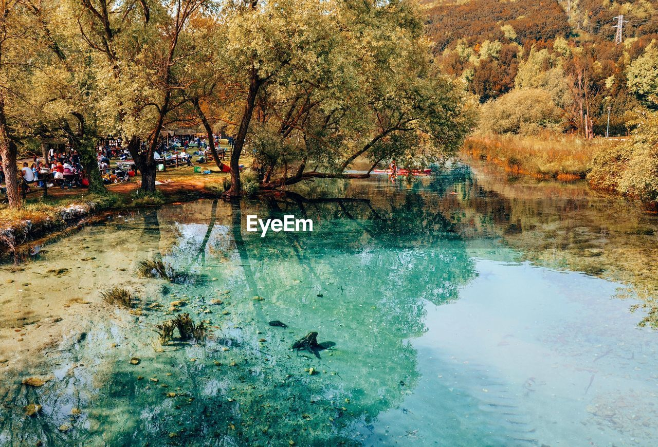 Scenic View Of River In Park During Autumn