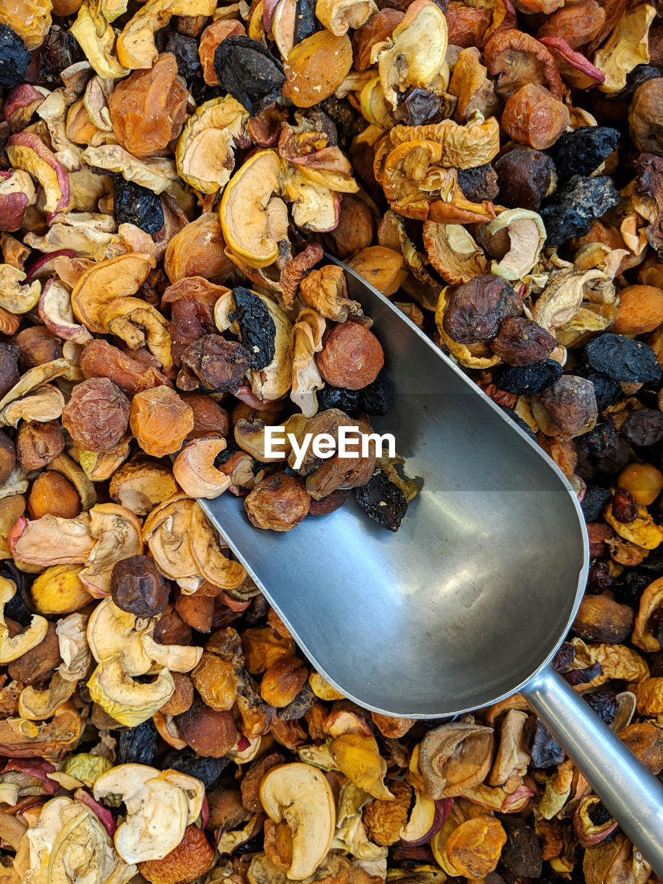 food, food and drink, spoon, wellbeing, healthy eating, kitchen utensil, still life, no people, large group of objects, abundance, eating utensil, freshness, high angle view, directly above, nut, close-up, day, fruit, nut - food, walnut, snack