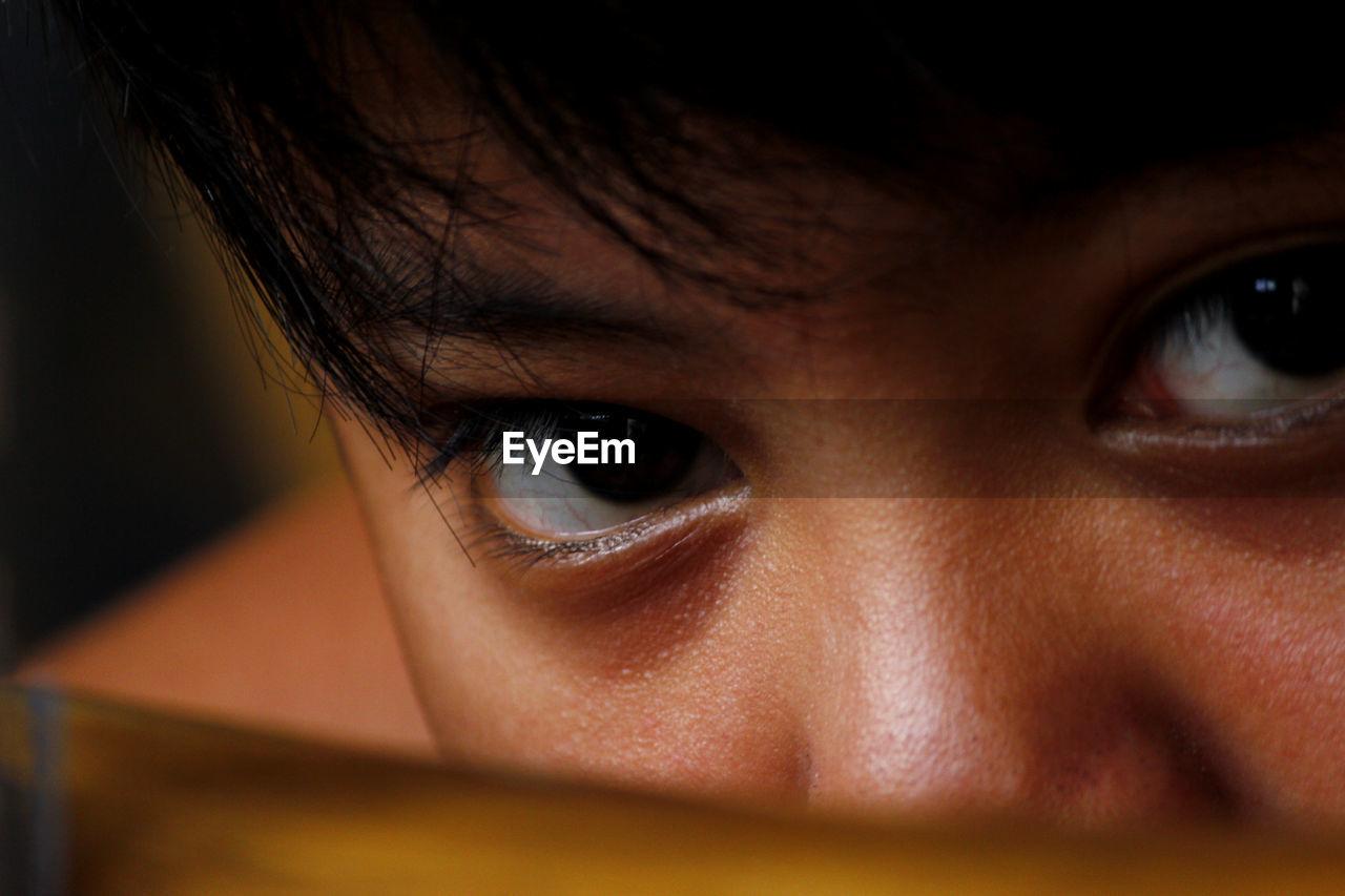 Cropped Eyes Of Boy