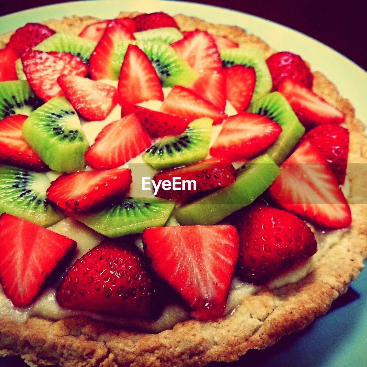 strawberry, food, food and drink, fruit, freshness, ready-to-eat, still life, slice, berry fruit, sweet food, cake, dessert, indoors, indulgence, plate, close-up, serving size, red, baked, no people, raspberry, tart - dessert, fruitcake, healthy eating, temptation, sponge cake