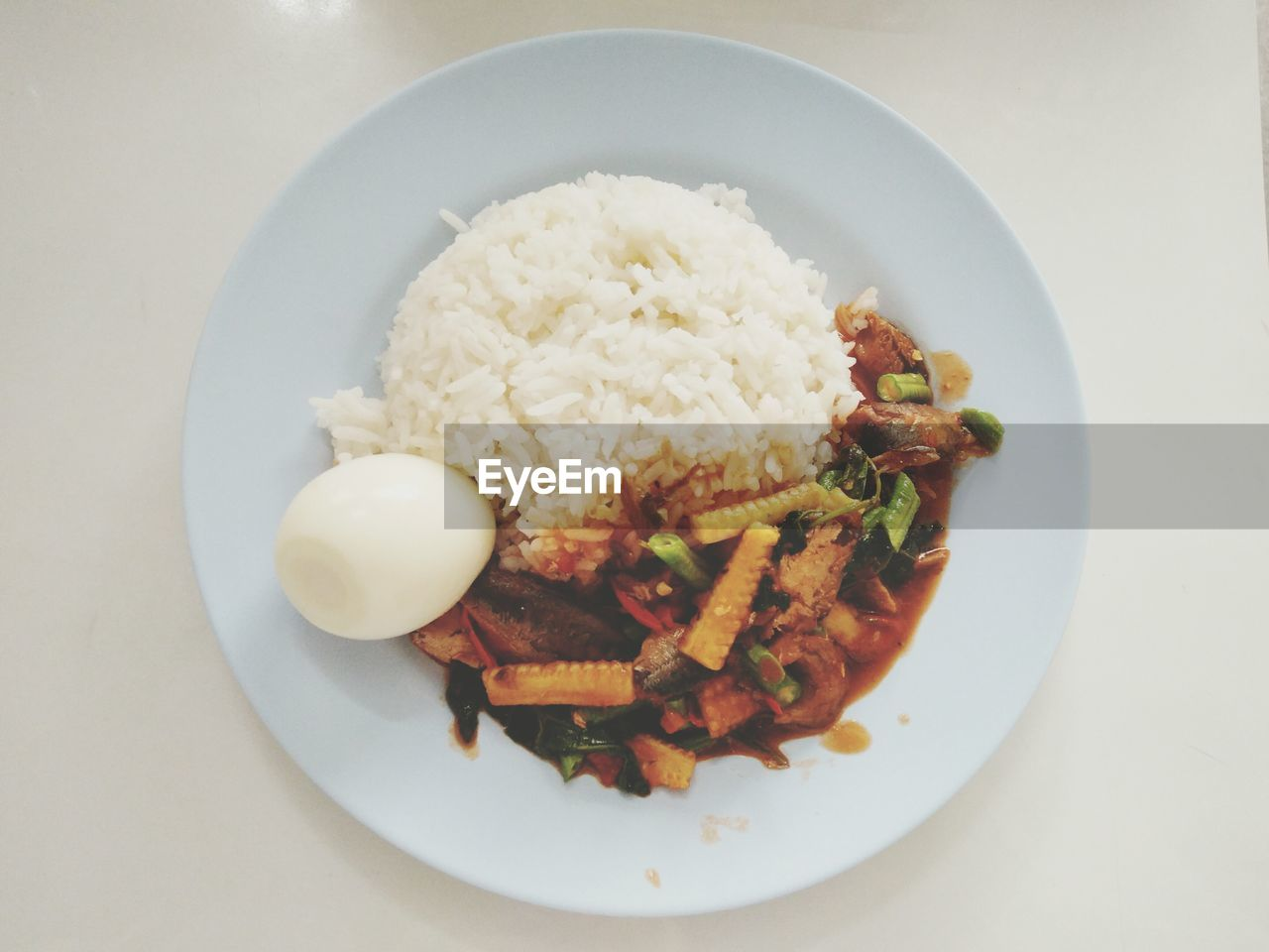 food, ready-to-eat, food and drink, plate, rice - food staple, freshness, healthy eating, meat, wellbeing, serving size, table, meal, still life, vegetable, indoors, rice, no people, cereal plant, high angle view, close-up, dinner, crockery, temptation