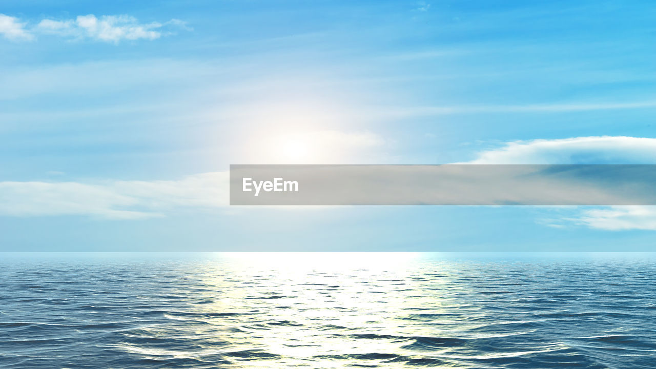 sky, sea, water, horizon over water, scenics - nature, cloud - sky, horizon, beauty in nature, waterfront, tranquility, tranquil scene, sunlight, idyllic, day, nature, no people, seascape, outdoors, non-urban scene