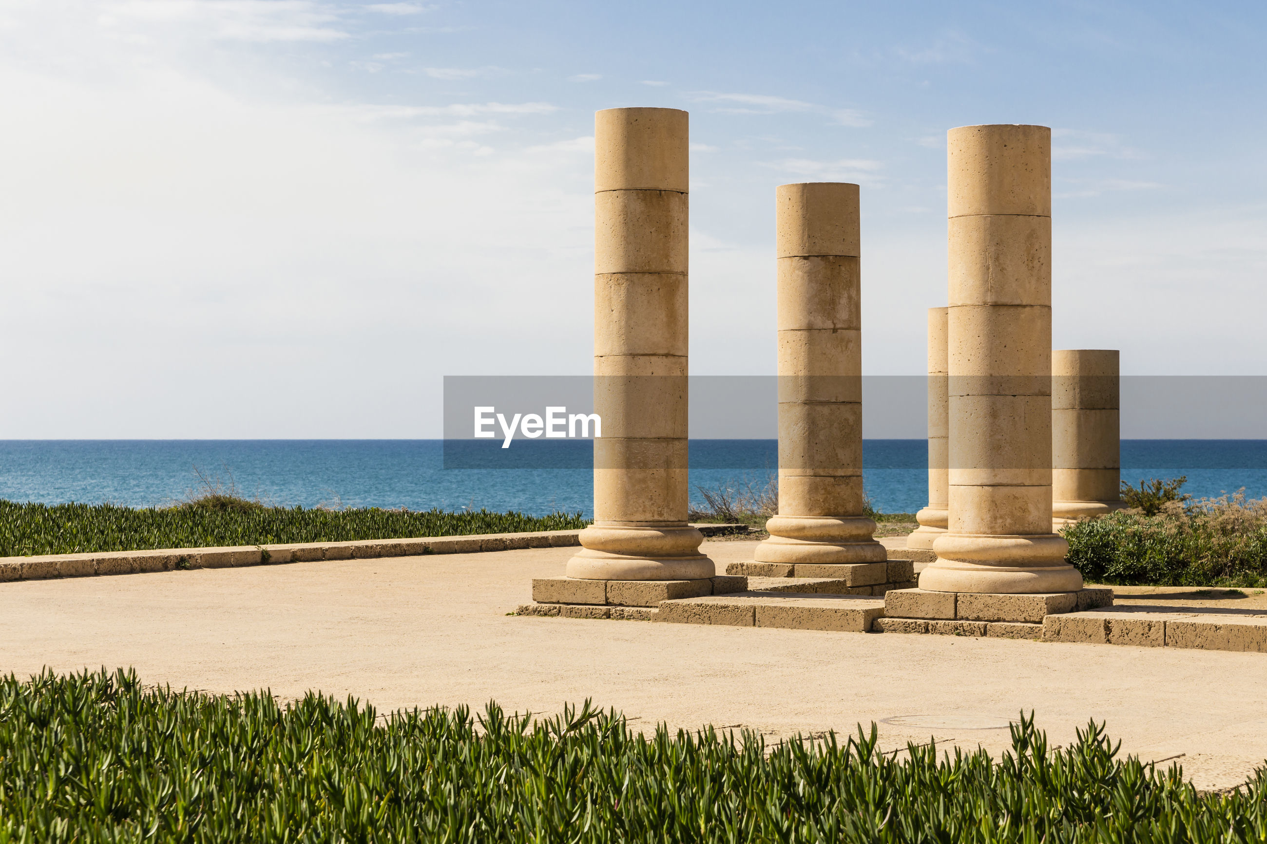 View of caesarea maritima by the sea