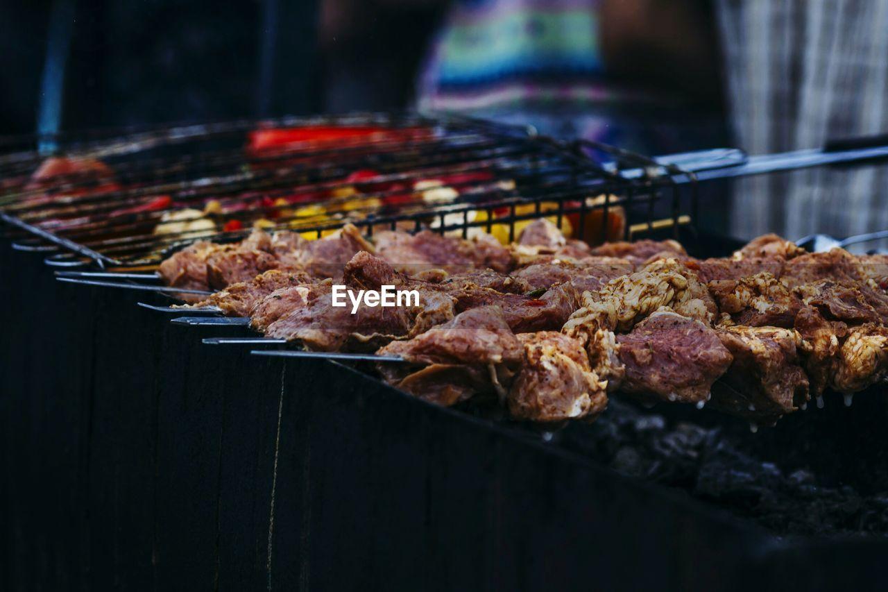 Skewered Kebab On Grill