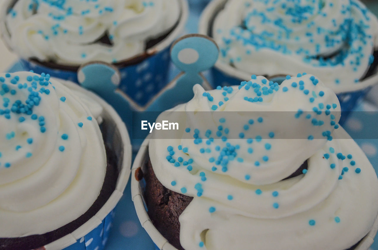 High Angle View Of Cupcakes