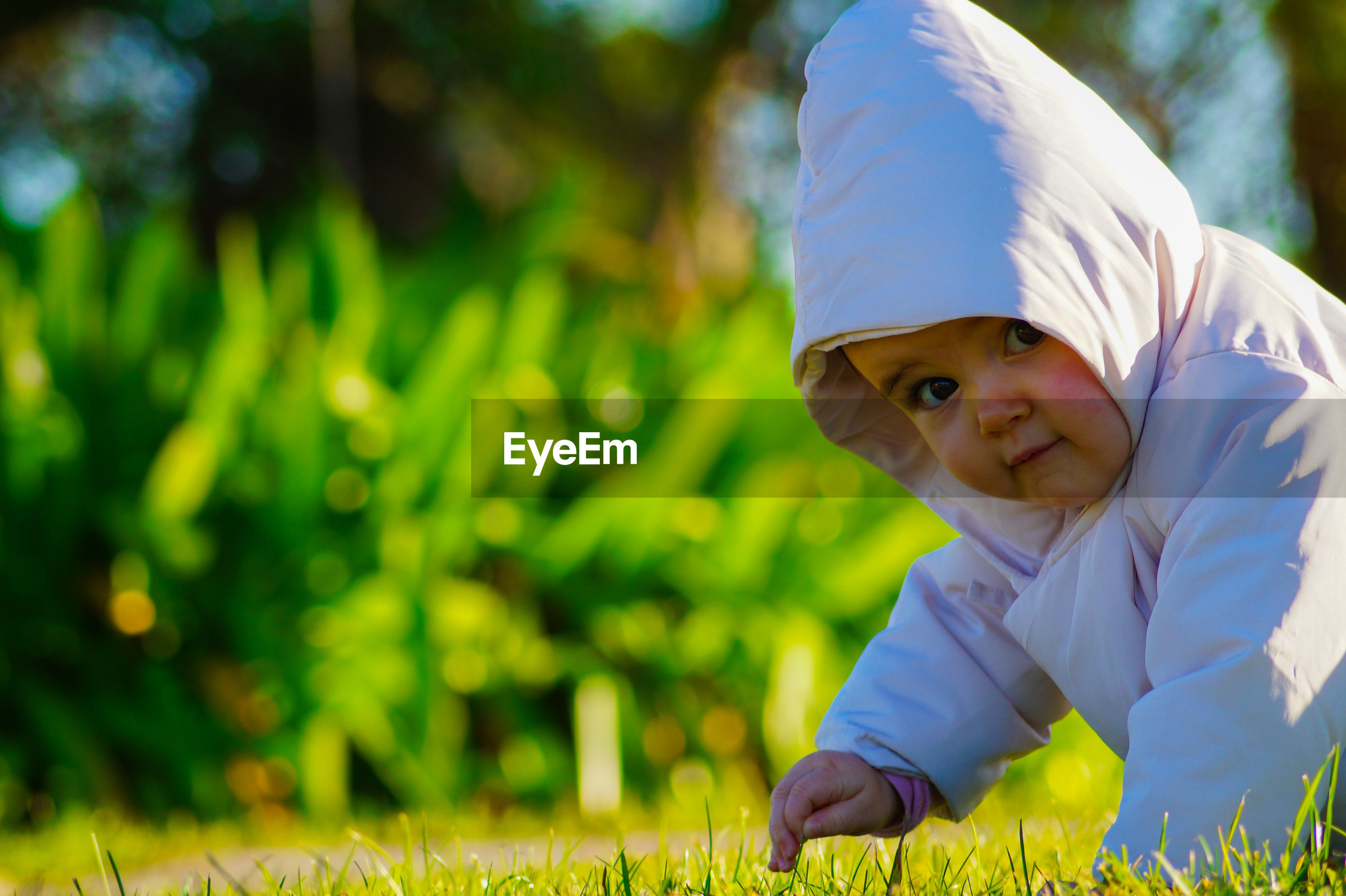 Portrait of baby on grass