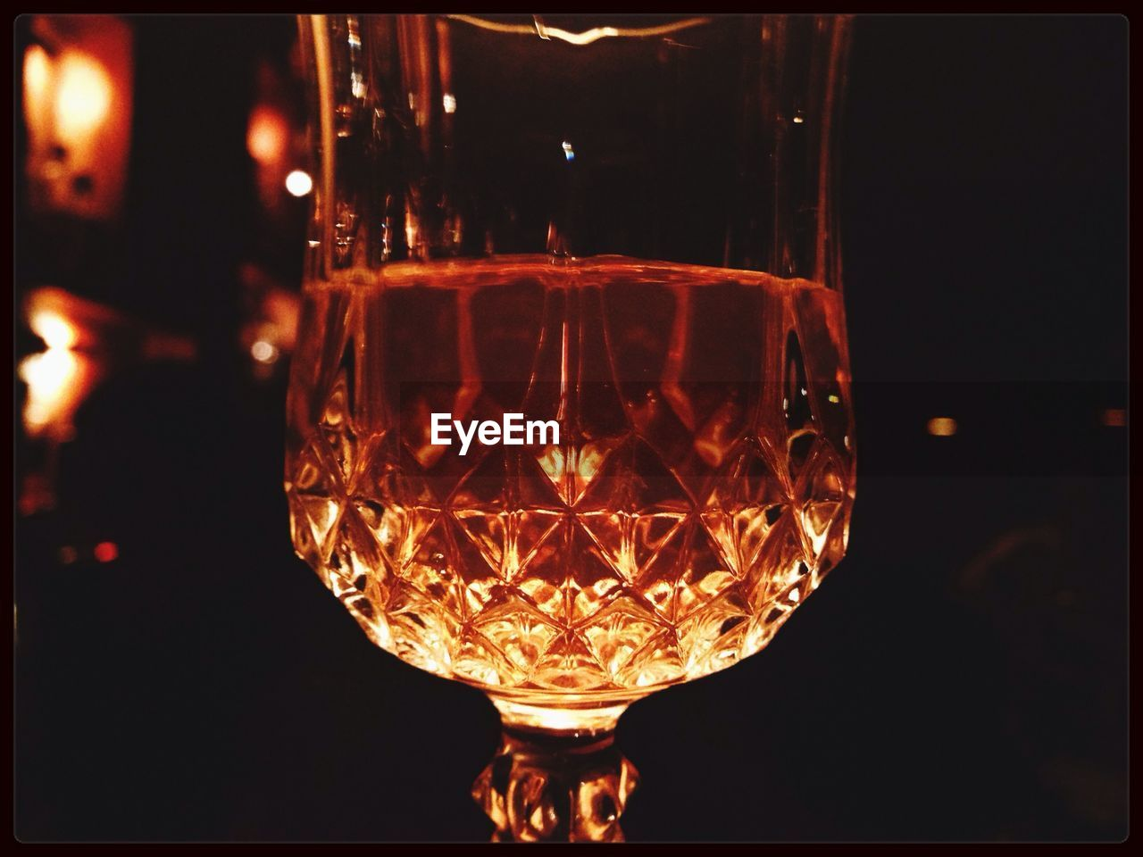 Close-Up Of Glass Of Whisky