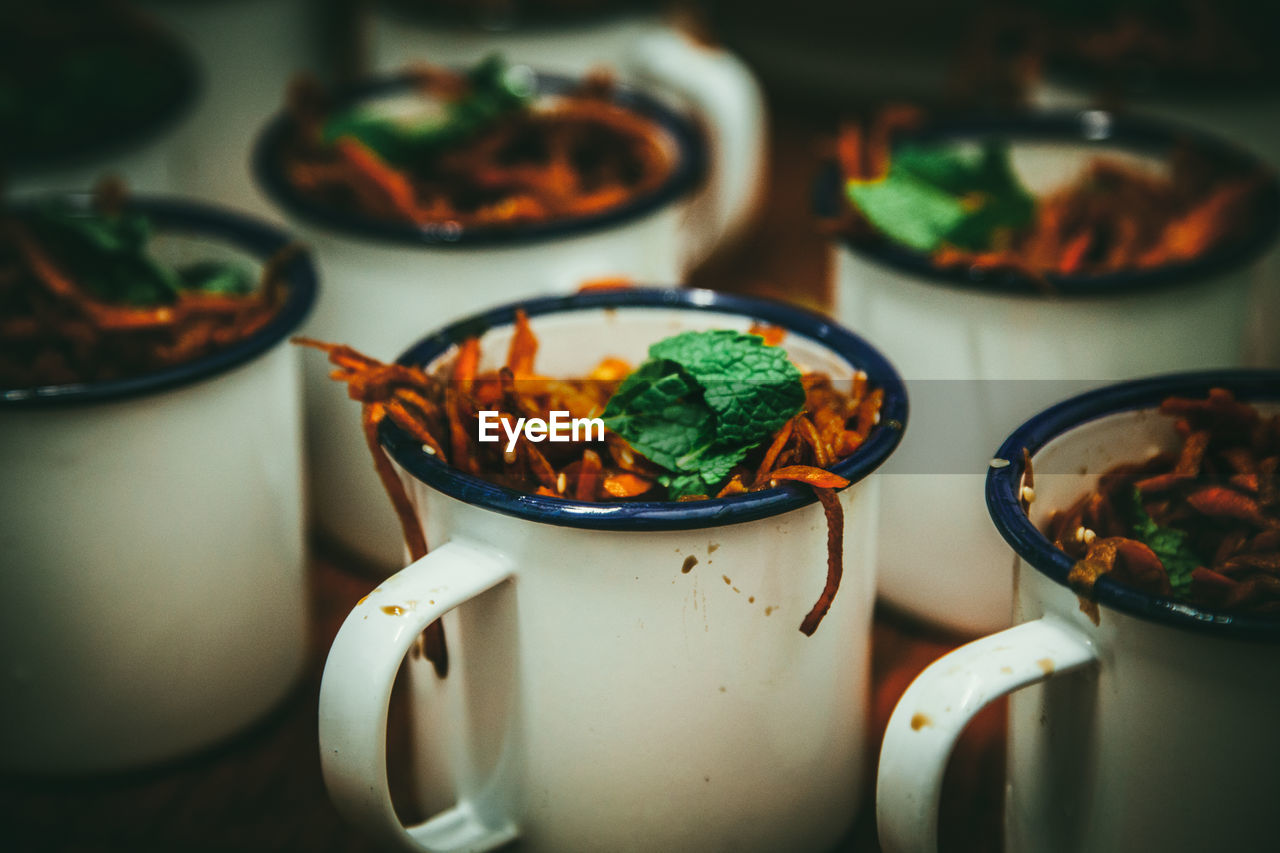 Close-Up Of Food In Cups
