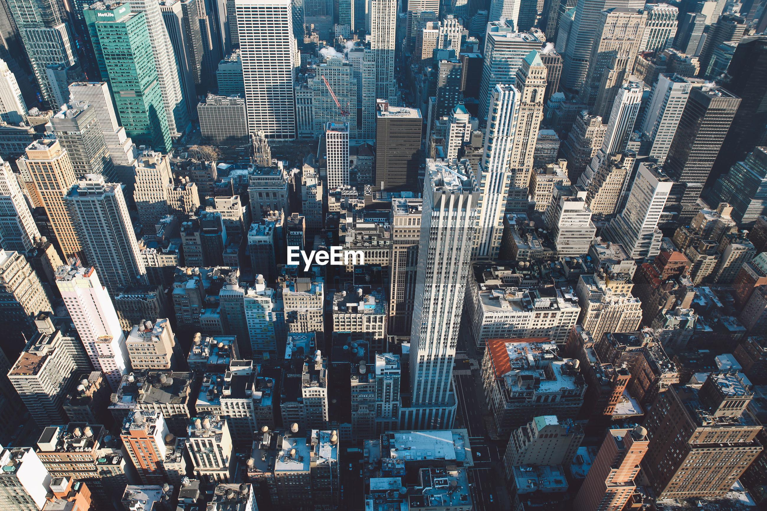 Full frame shot of skyscrapers