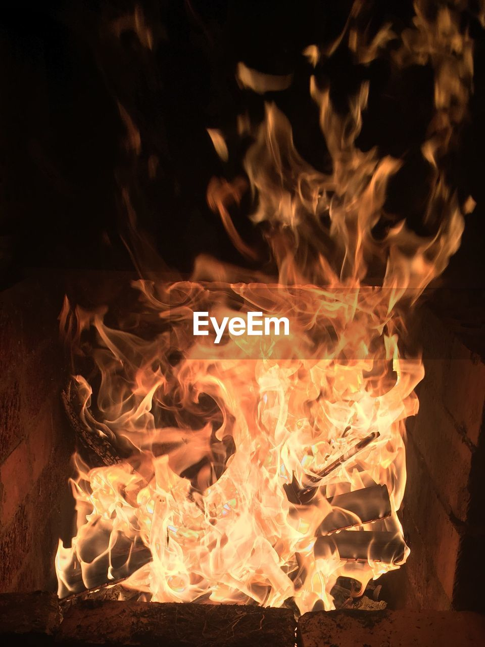burning, no people, flame, heat - temperature, night, outdoors, close-up, bonfire