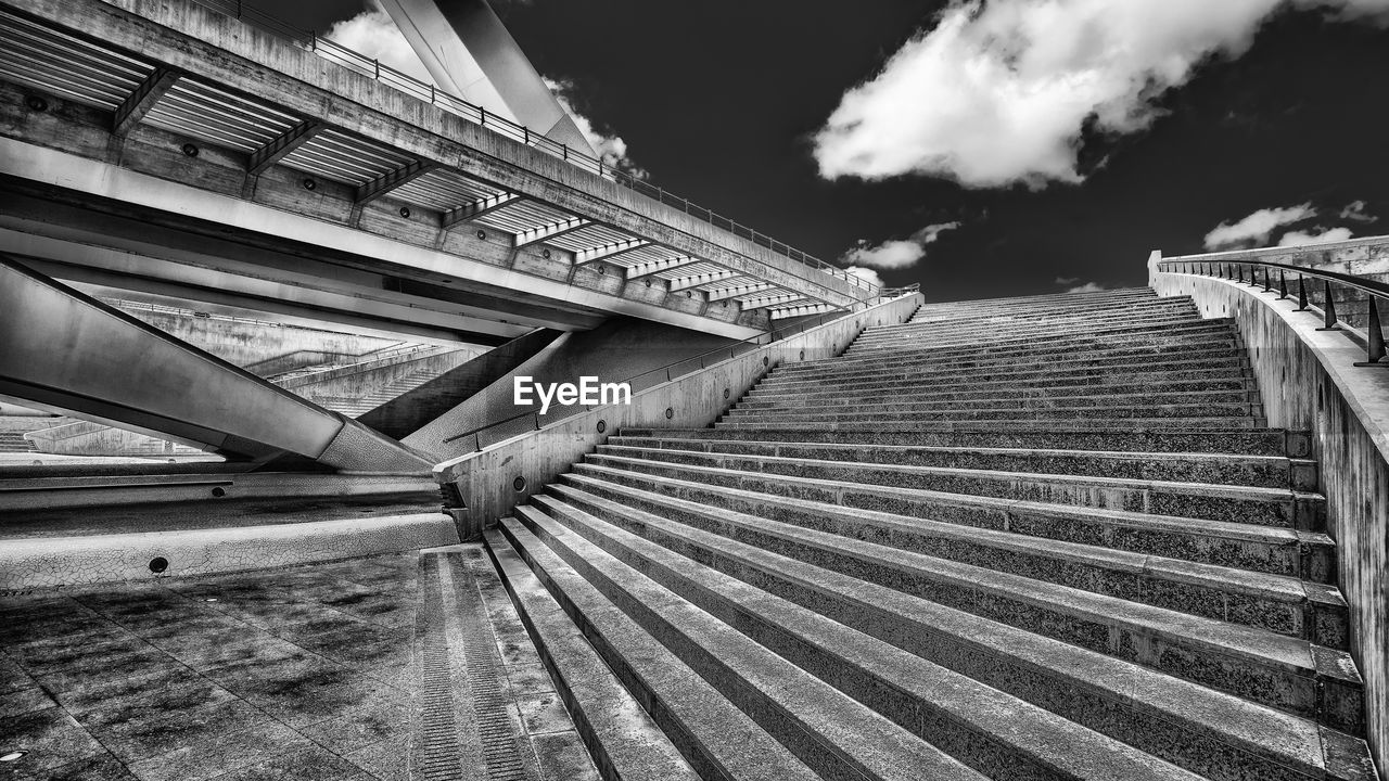 LOW ANGLE VIEW OF STEPS AND STAIRCASES