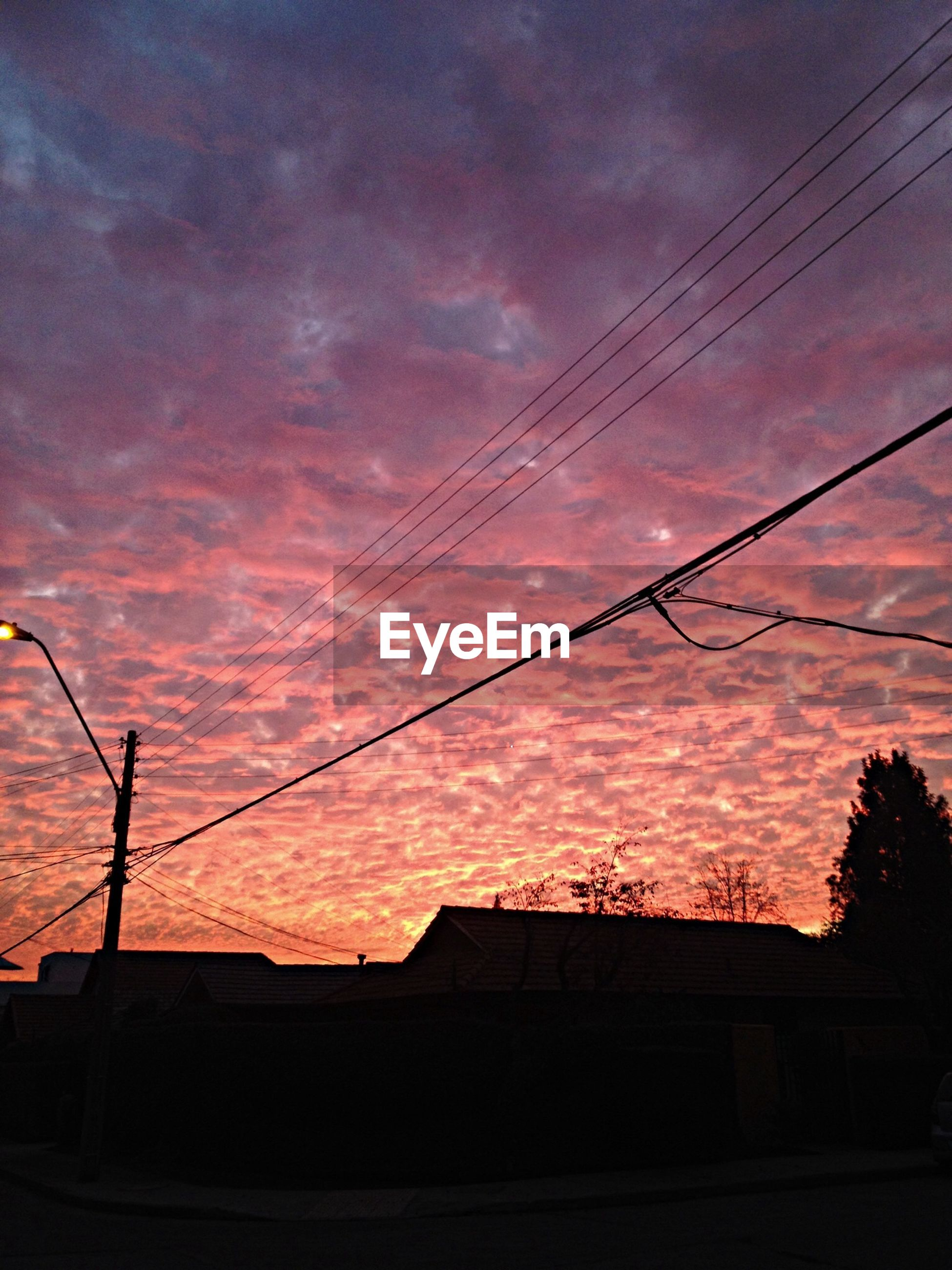 Low angle view of pink cloudy sky