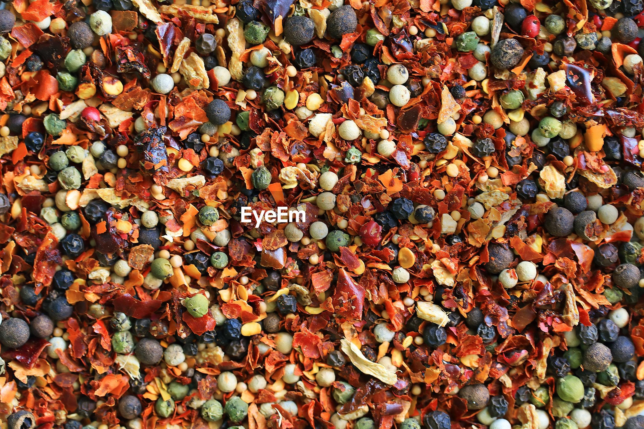Full frame shot of various spices