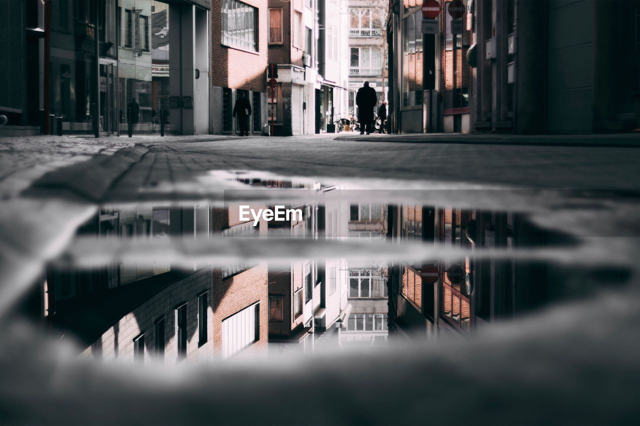 Reflection Of Buildings In 8