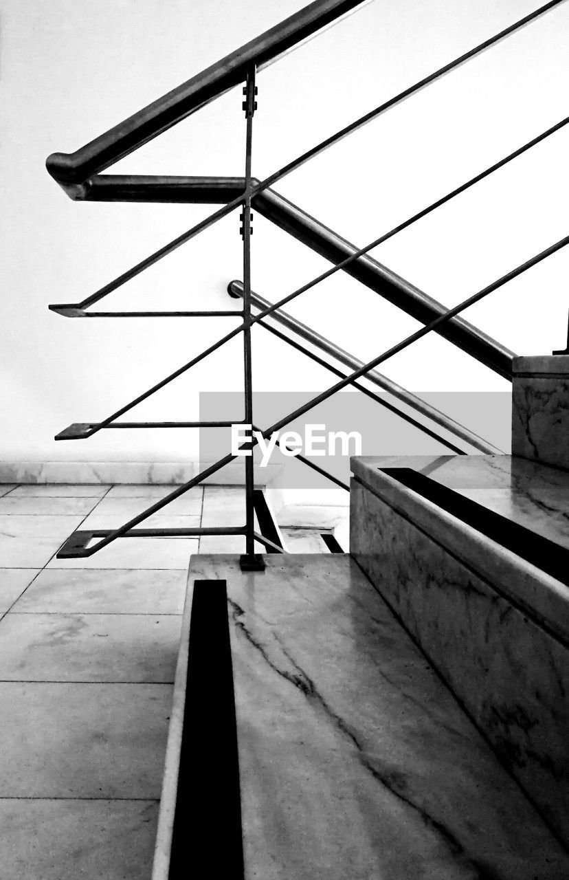 architecture, sky, built structure, day, no people, transportation, nature, outdoors, railing, metal, clear sky, low angle view, air vehicle, airplane, building exterior, mode of transportation, connection, bridge, concrete