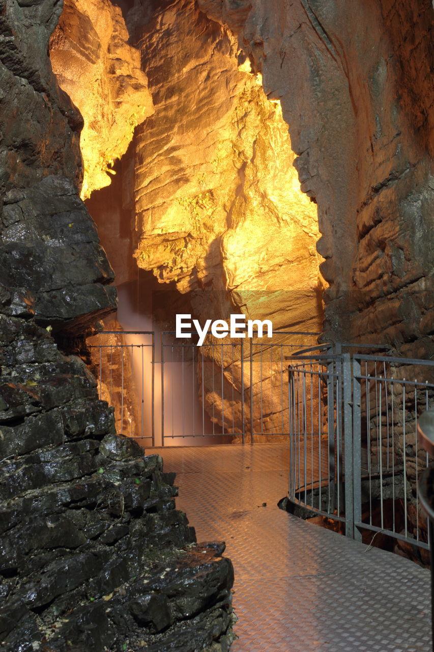View of corridor in cave
