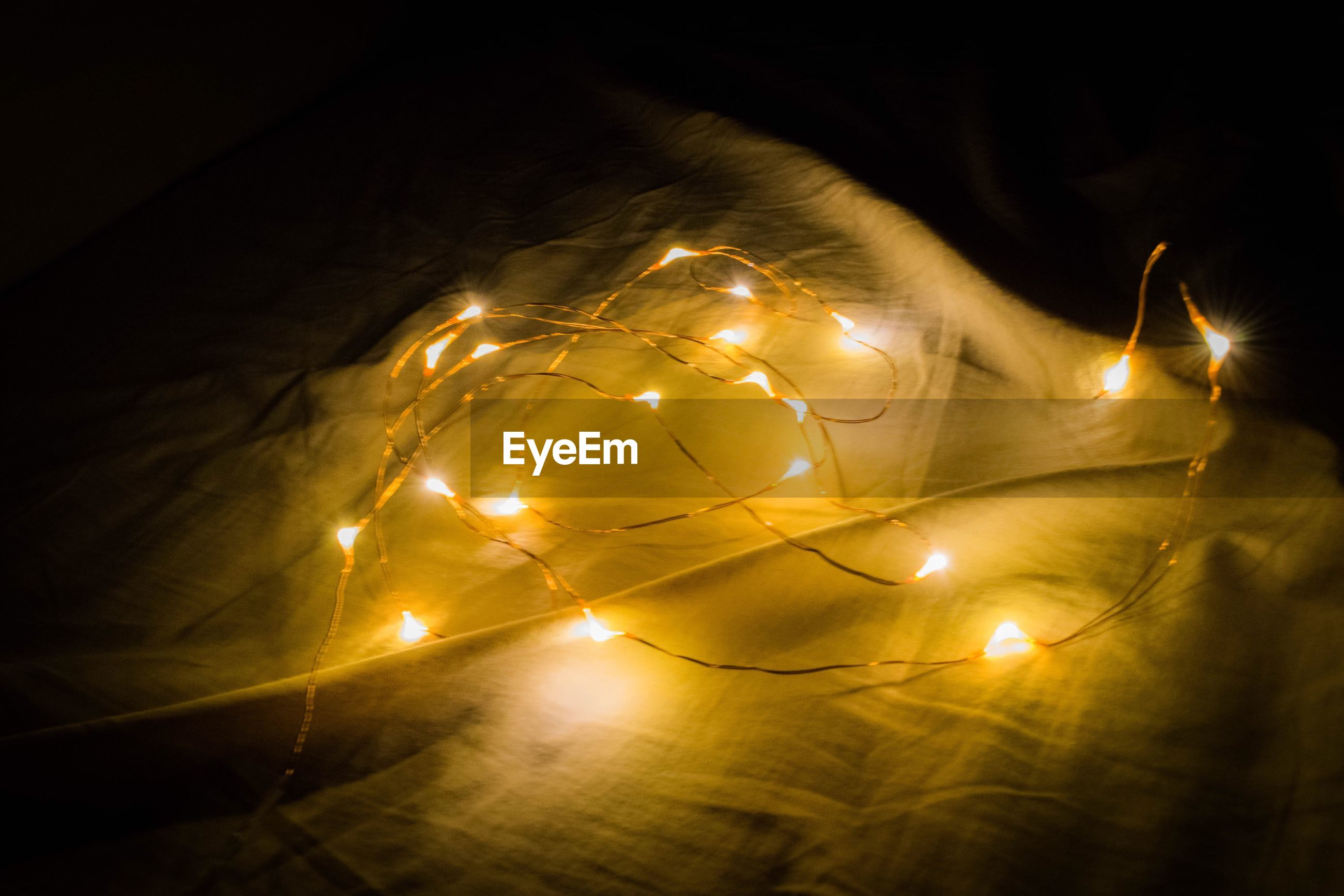 illuminated, night, no people, close-up, indoors, nature, wire wool