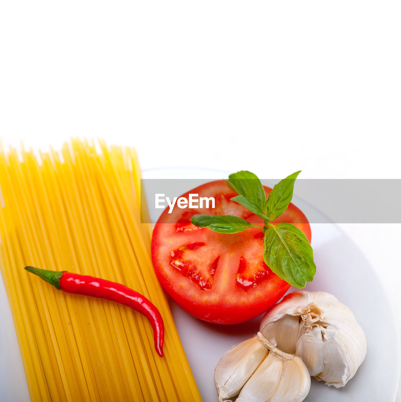 Close-Up Of Raw Spaghetti Noodles