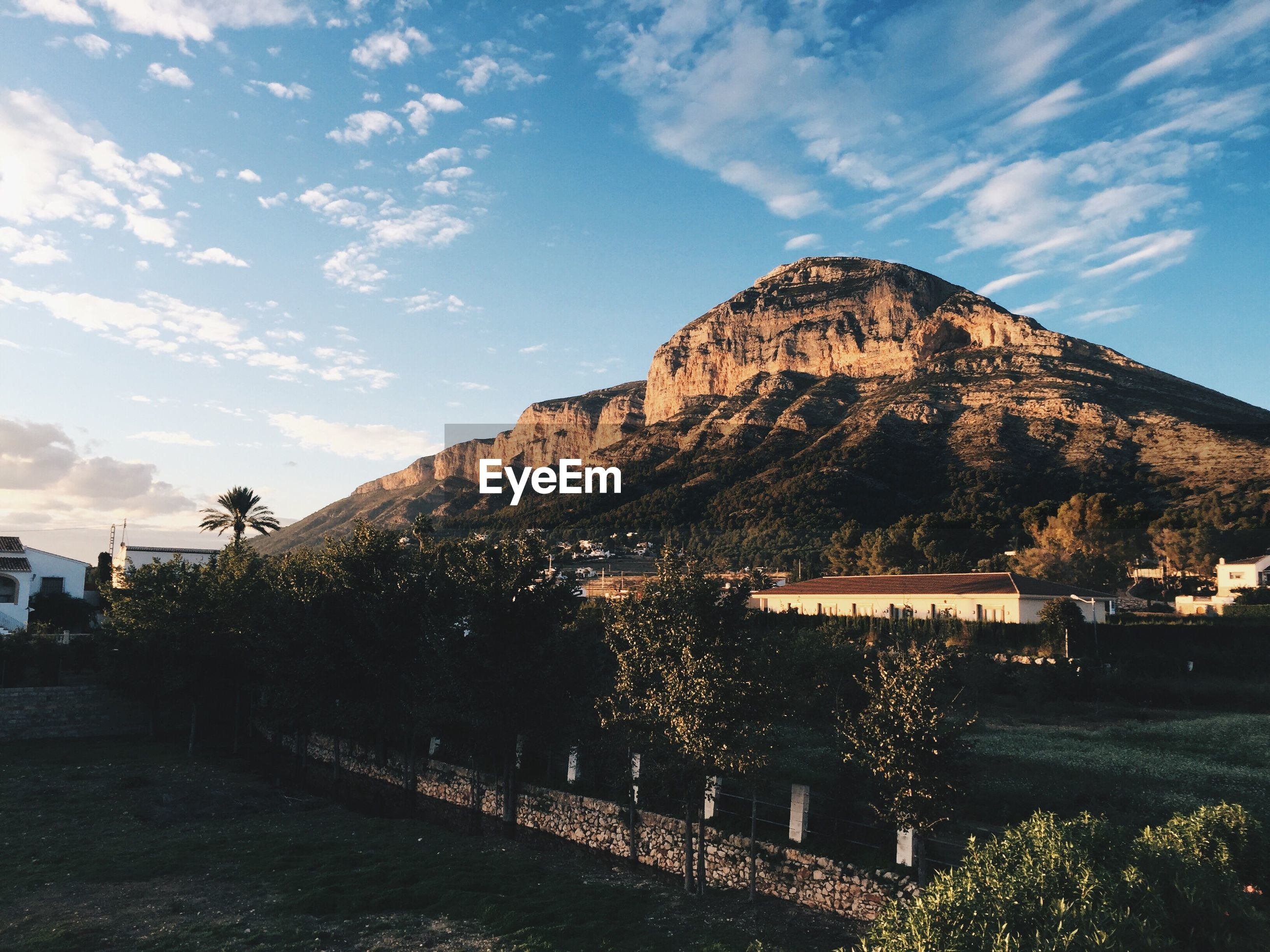 VIEW OF CASTLE ON MOUNTAIN