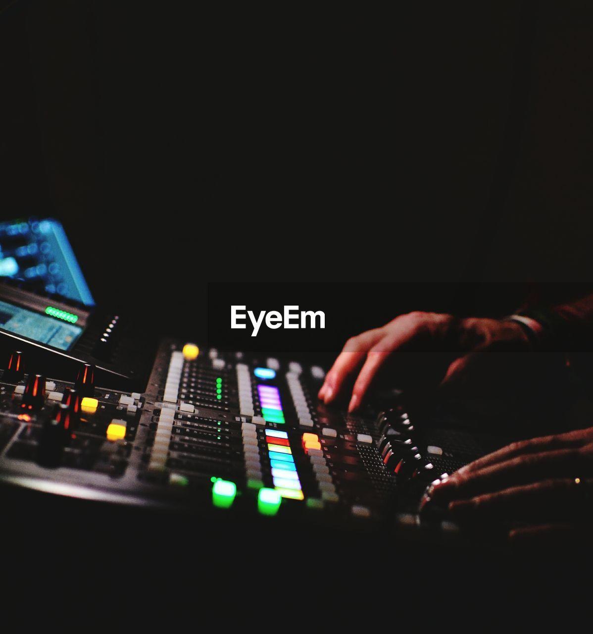 Close Up Of Man In Recording Studio