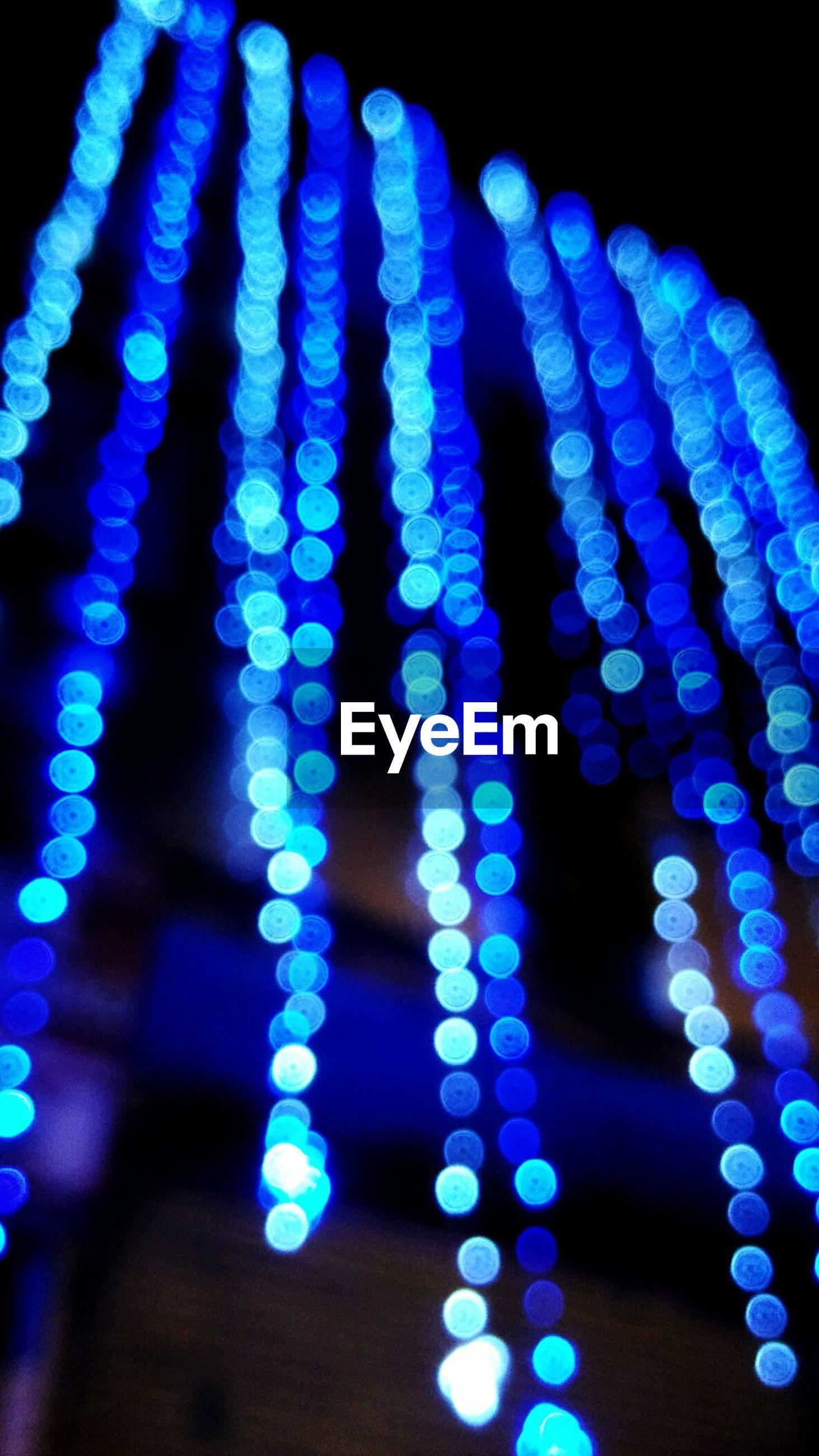 blue, illuminated, night, abstract, pattern, glowing, close-up, lighting equipment, low angle view, indoors, studio shot, design, light - natural phenomenon, purple, creativity, multi colored, light effect, decoration, shape, art