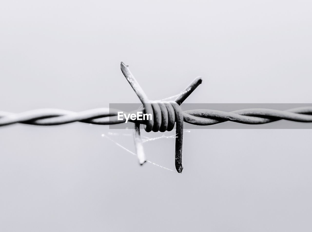 barbed wire, wire, metal, protection, safety, close-up, security, fence, connection, twisted, no people, boundary, copy space, barrier, cable, communication, focus on foreground, sharp, sign, day, tangled, intertwined