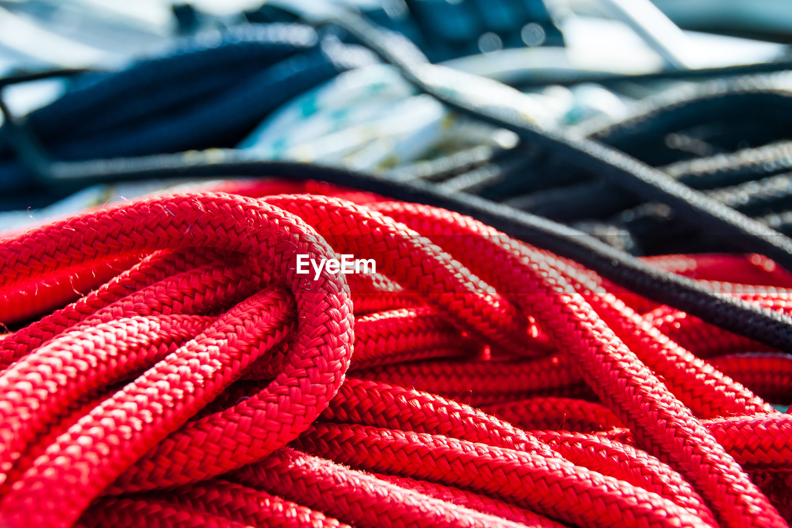 Close up of multi colored rope
