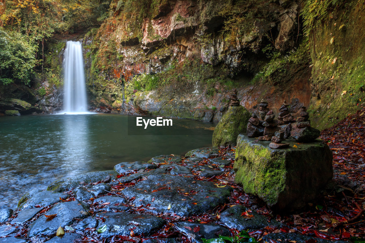 water, rock, waterfall, scenics - nature, motion, rock - object, flowing water, solid, beauty in nature, nature, no people, long exposure, moss, day, rock formation, forest, plant, tree, blurred motion, flowing, outdoors, power in nature