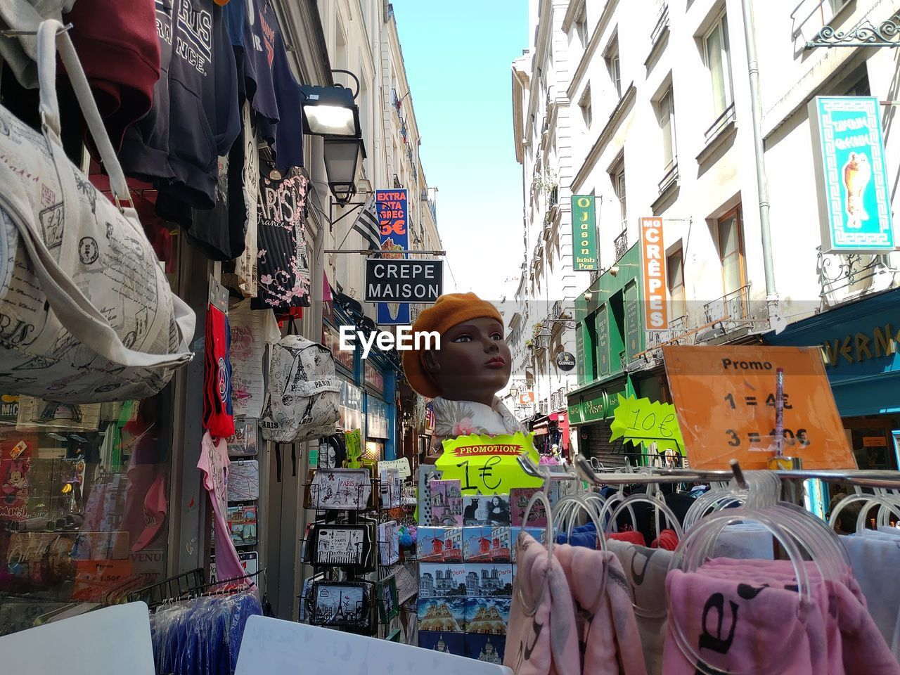 Various objects for sale at market in city