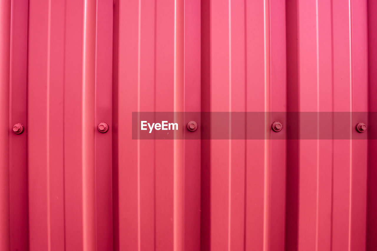full frame, backgrounds, security, entrance, safety, protection, door, pattern, no people, metal, closed, close-up, day, iron, red, corrugated iron, architecture, pink color, outdoors, built structure, corrugated