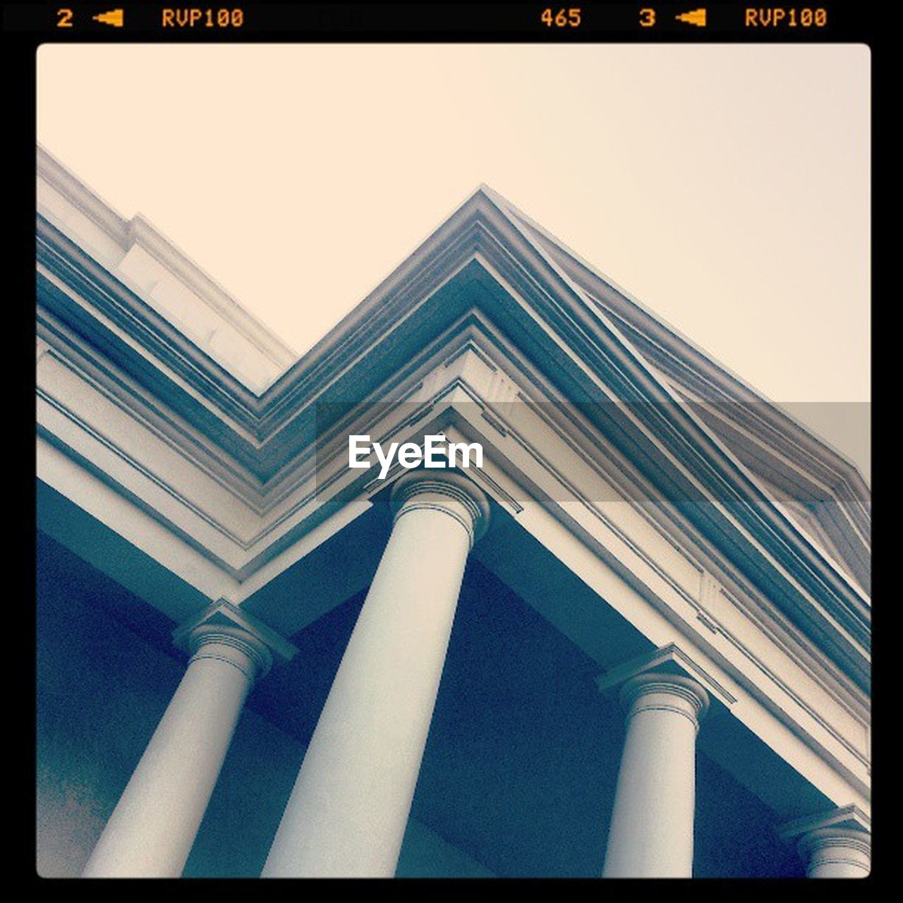 low angle view, architecture, architectural column, built structure, building exterior, no people, outdoors, day, city, sky