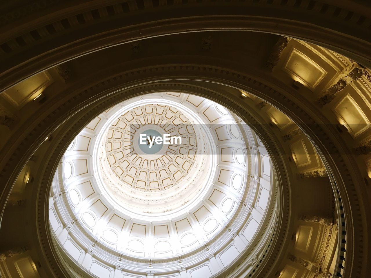 Low Angle View Of Cupola In Historic Building