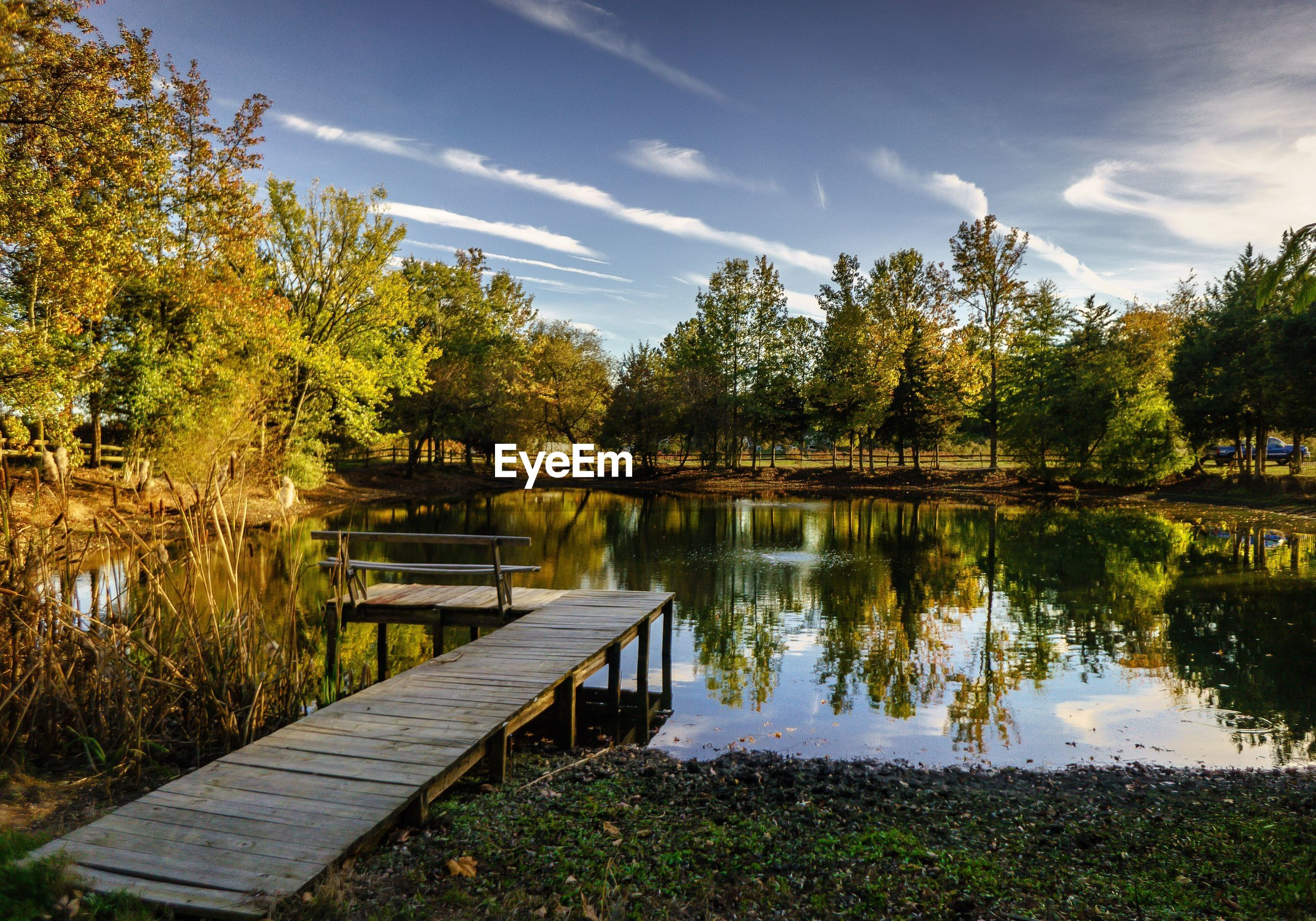 SCENIC VIEW OF LAKE AGAINST TREES