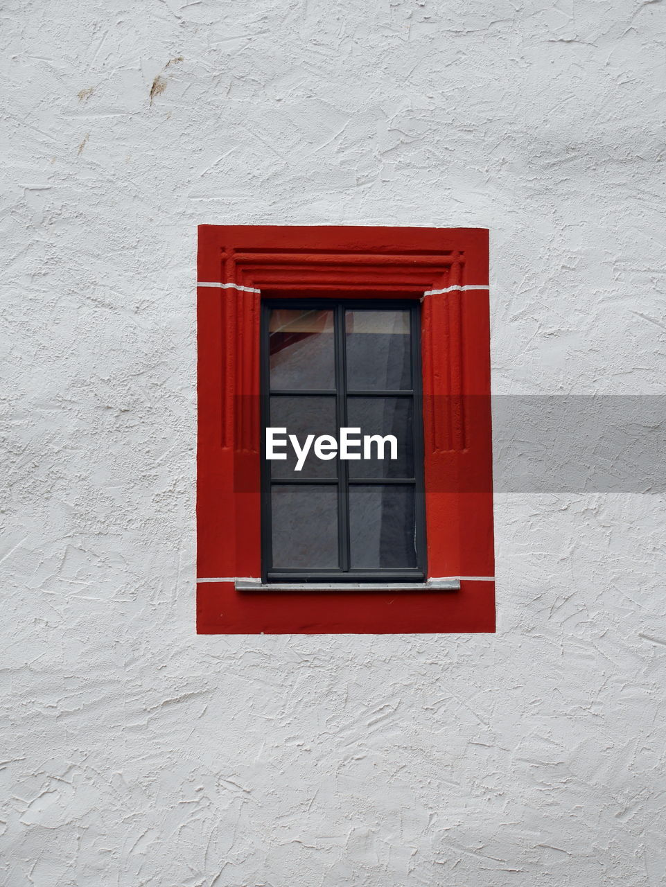 architecture, built structure, building exterior, window, building, wall - building feature, red, no people, day, white color, house, wall, glass - material, residential district, outdoors, security, close-up, closed, safety, wood - material, window frame