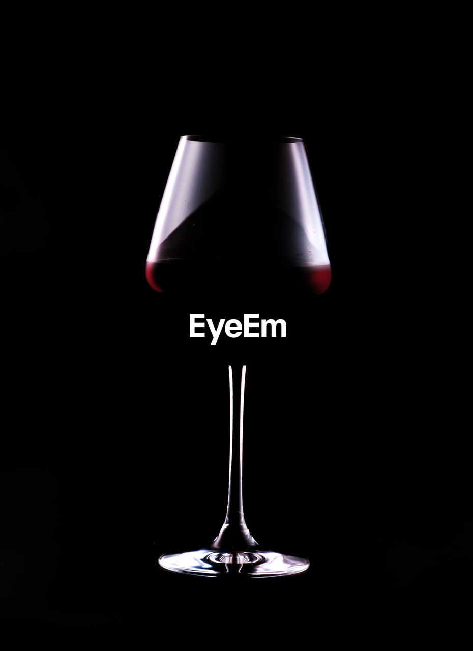 Wine glass isolated close-up