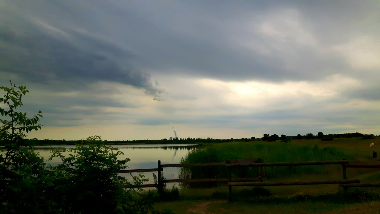 nature, beauty in nature, water, tranquility, tranquil scene, sky, no people, cloud - sky, tree, scenics, outdoors, day, plant, growth