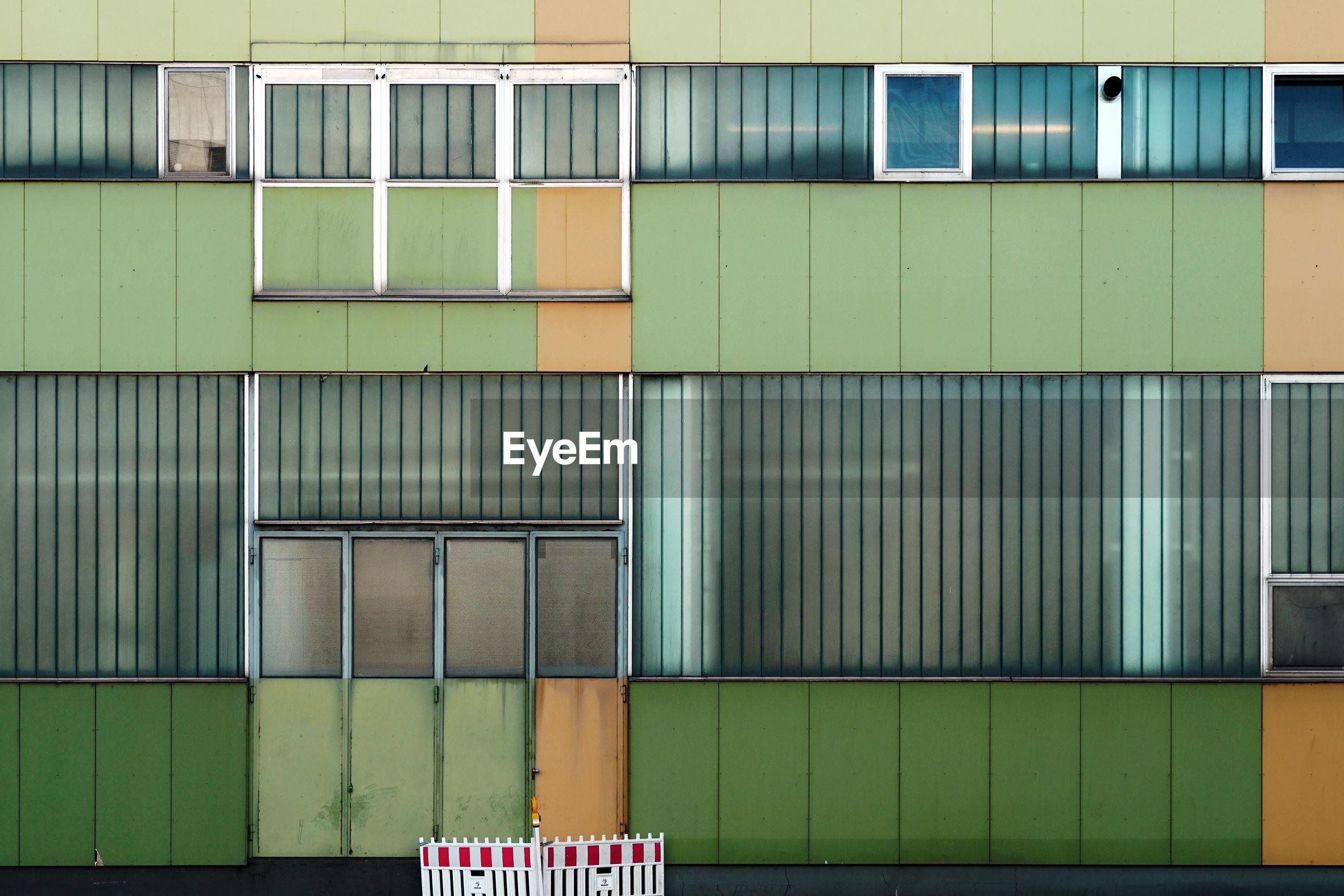 Full frame shot of green building