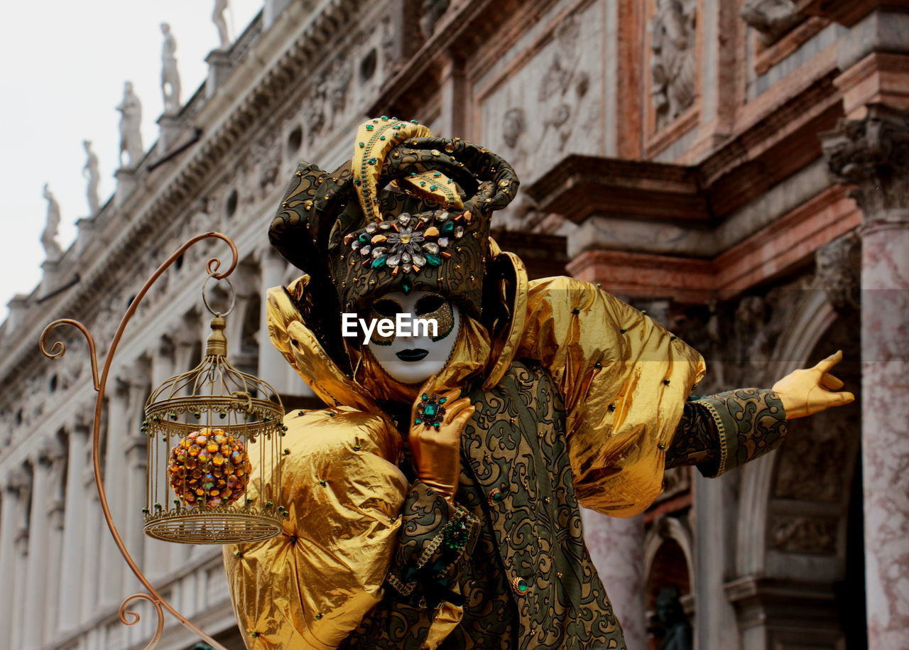 Person Wearing Costume During Carnival